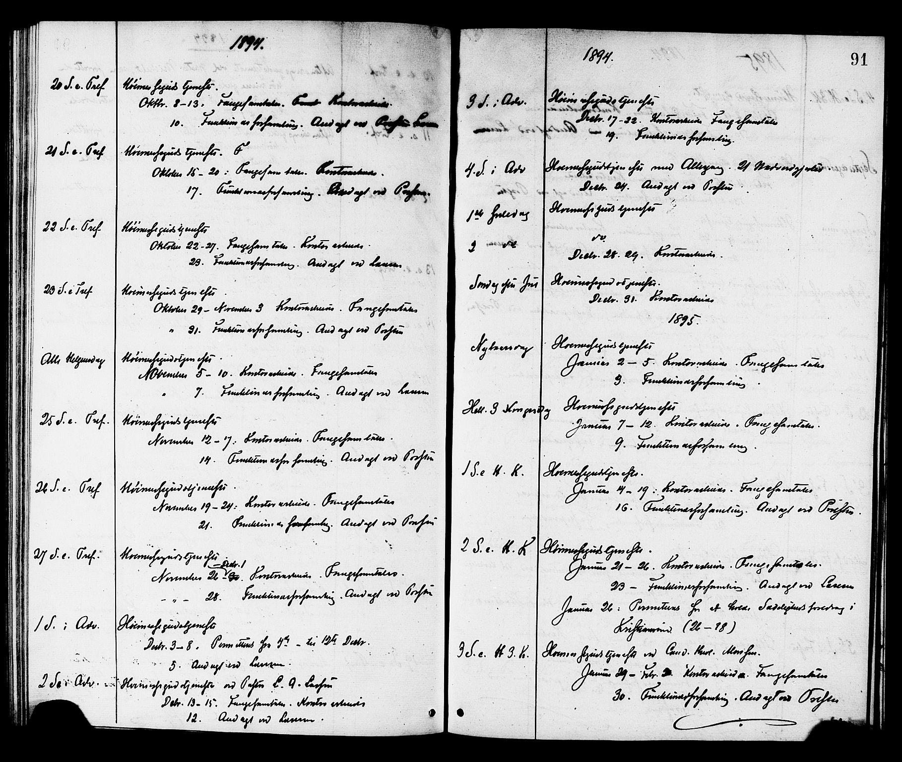 SAT, Ministerialprotokoller, klokkerbøker og fødselsregistre - Sør-Trøndelag, 624/L0482: Ministerialbok nr. 624A03, 1870-1918, s. 91