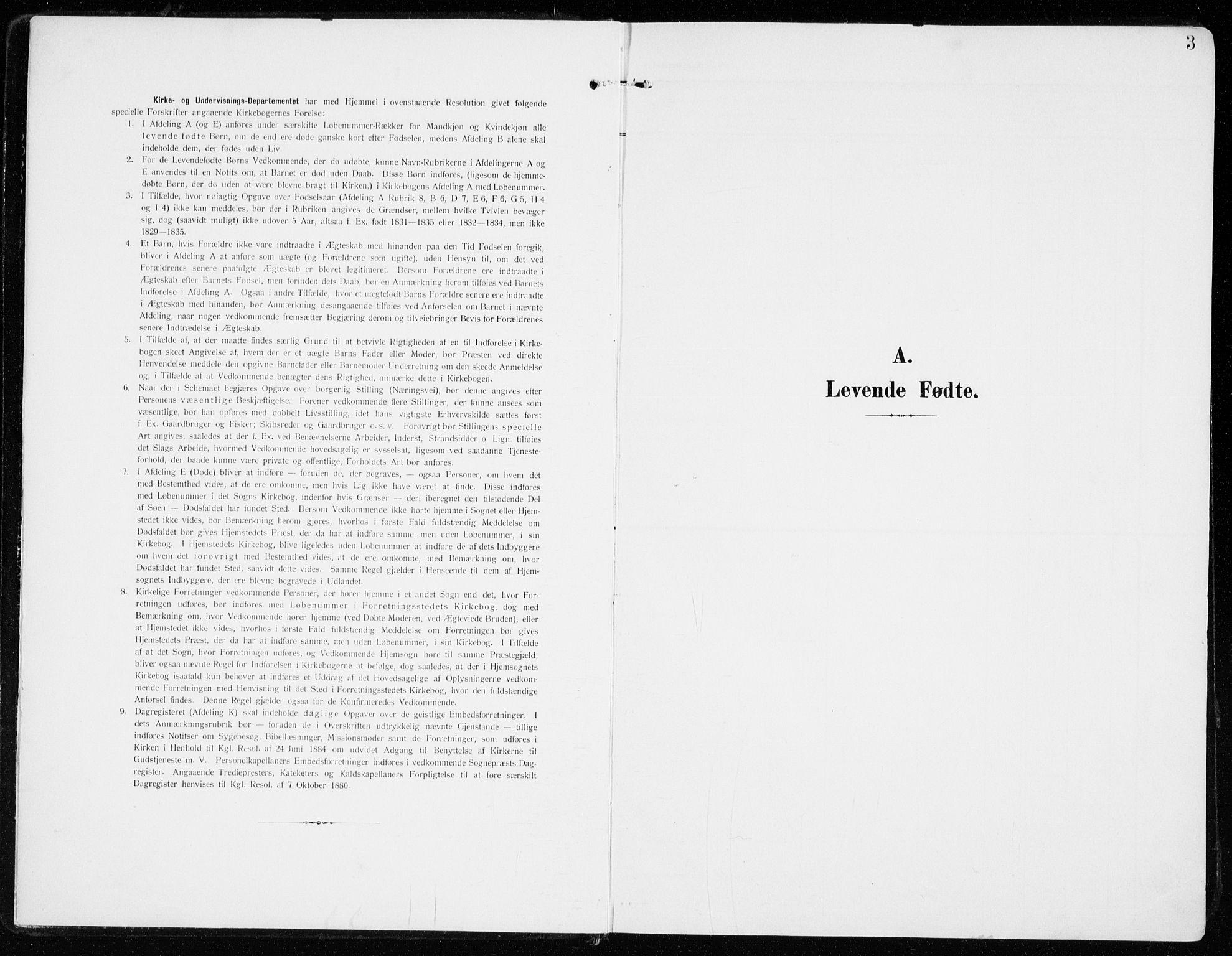 SAH, Sel prestekontor, Ministerialbok nr. 2, 1905-1919, s. 3