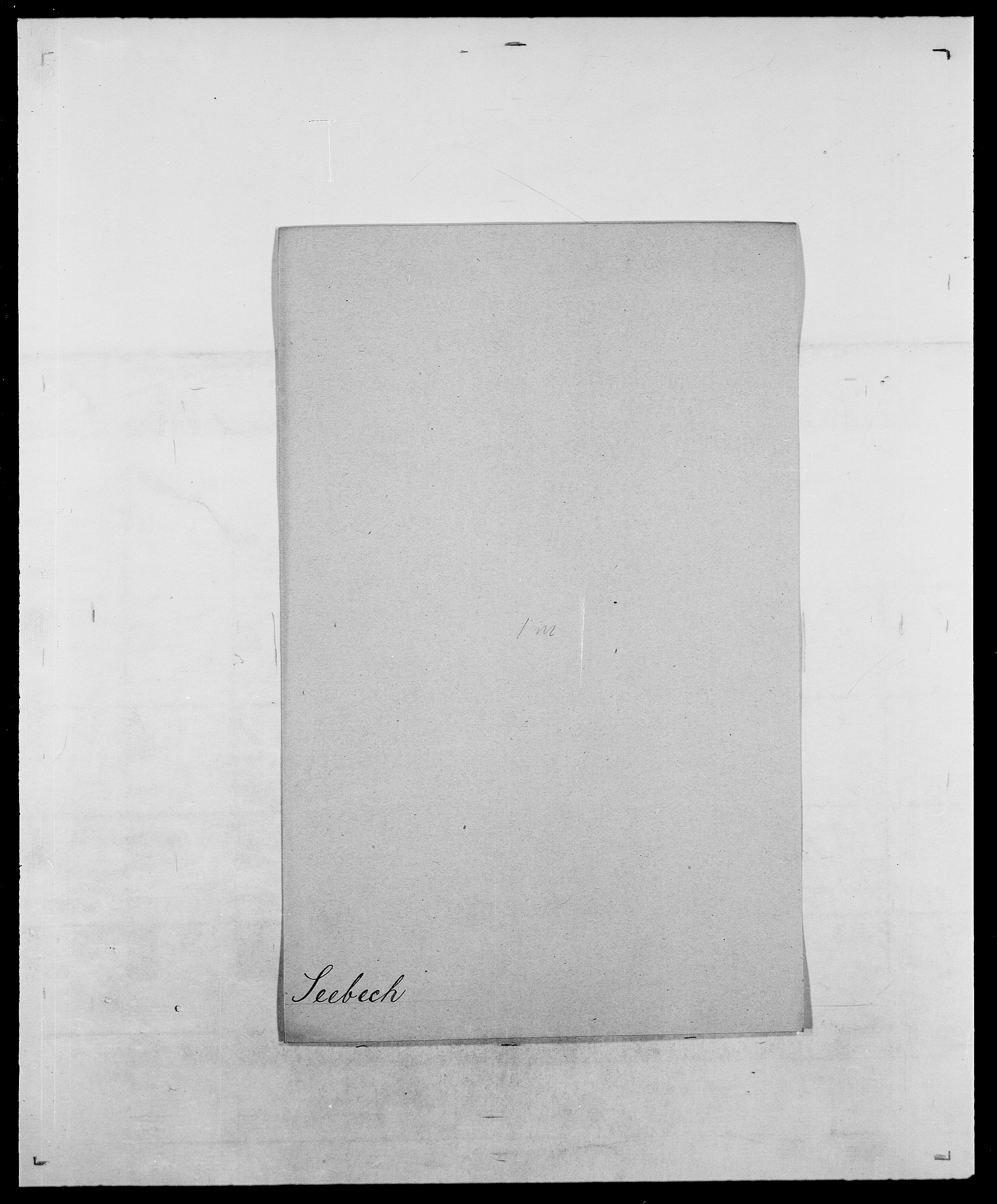 SAO, Delgobe, Charles Antoine - samling, D/Da/L0035: Schnabel - sjetman, s. 528