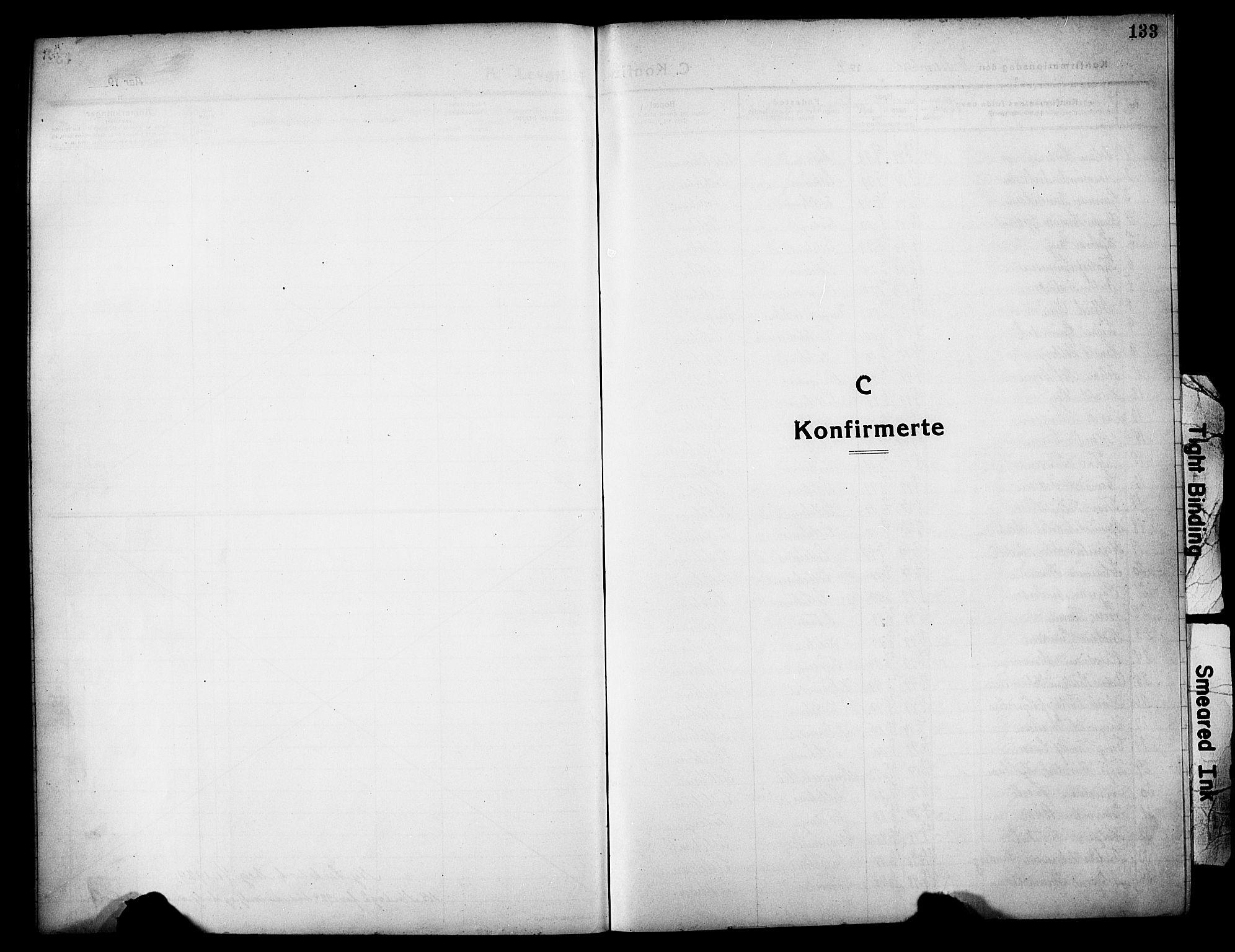 SAH, Lillehammer prestekontor, Klokkerbok nr. 2, 1913-1929, s. 133