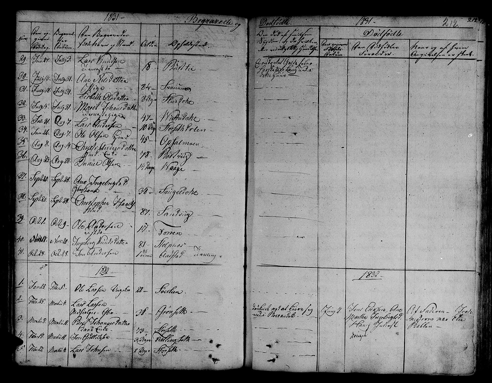 SAT, Ministerialprotokoller, klokkerbøker og fødselsregistre - Sør-Trøndelag, 630/L0492: Ministerialbok nr. 630A05, 1830-1840, s. 212