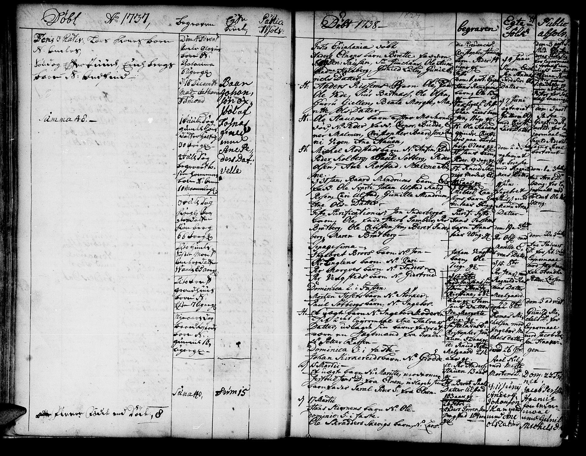 SAT, Ministerialprotokoller, klokkerbøker og fødselsregistre - Nord-Trøndelag, 741/L0385: Ministerialbok nr. 741A01, 1722-1815, s. 34