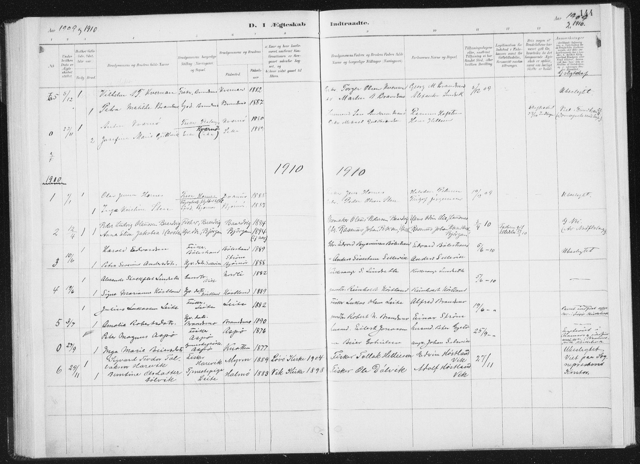 SAT, Ministerialprotokoller, klokkerbøker og fødselsregistre - Nord-Trøndelag, 771/L0597: Ministerialbok nr. 771A04, 1885-1910, s. 144