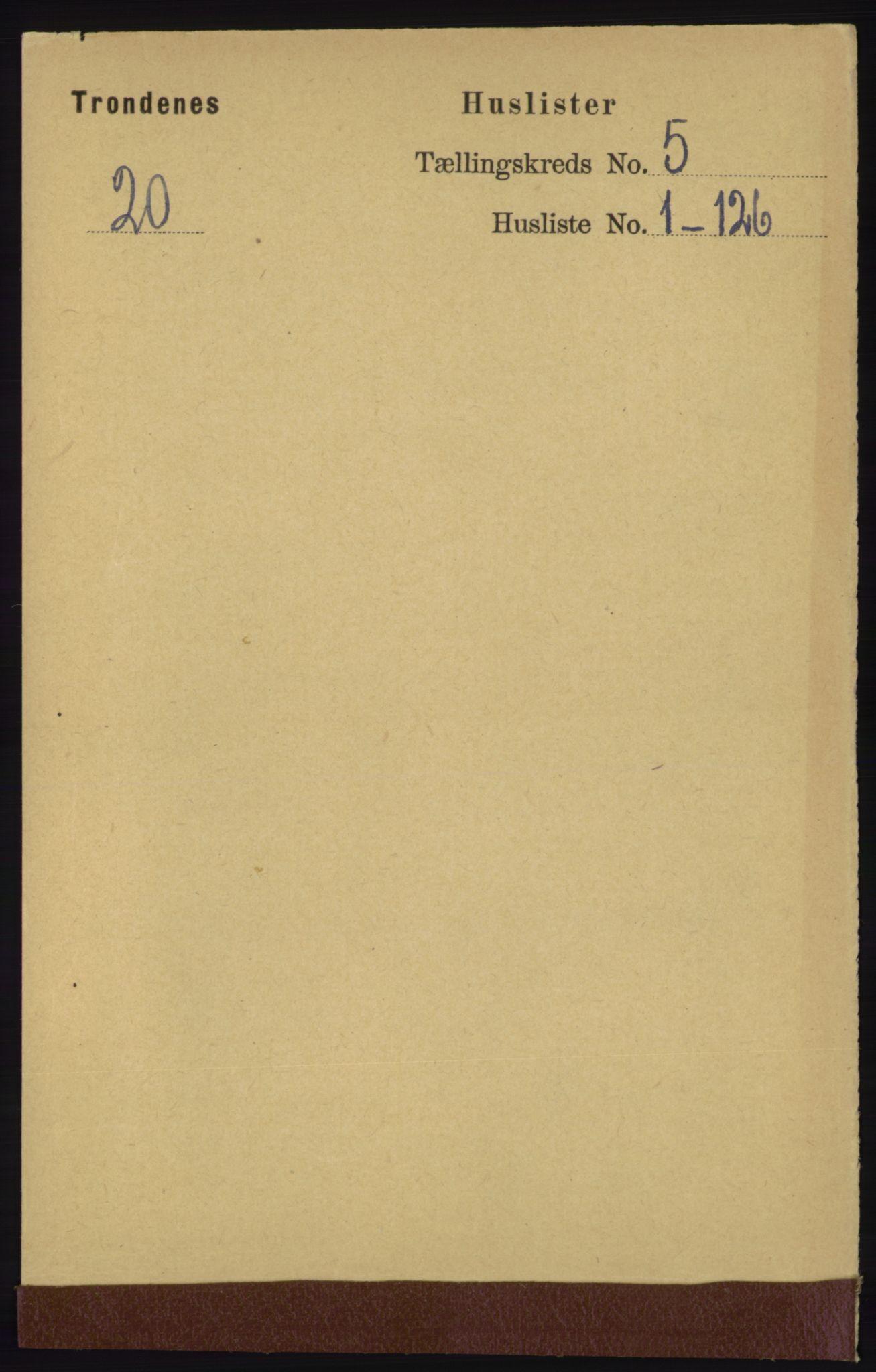 RA, Folketelling 1891 for 1914 Trondenes herred, 1891, s. 2695