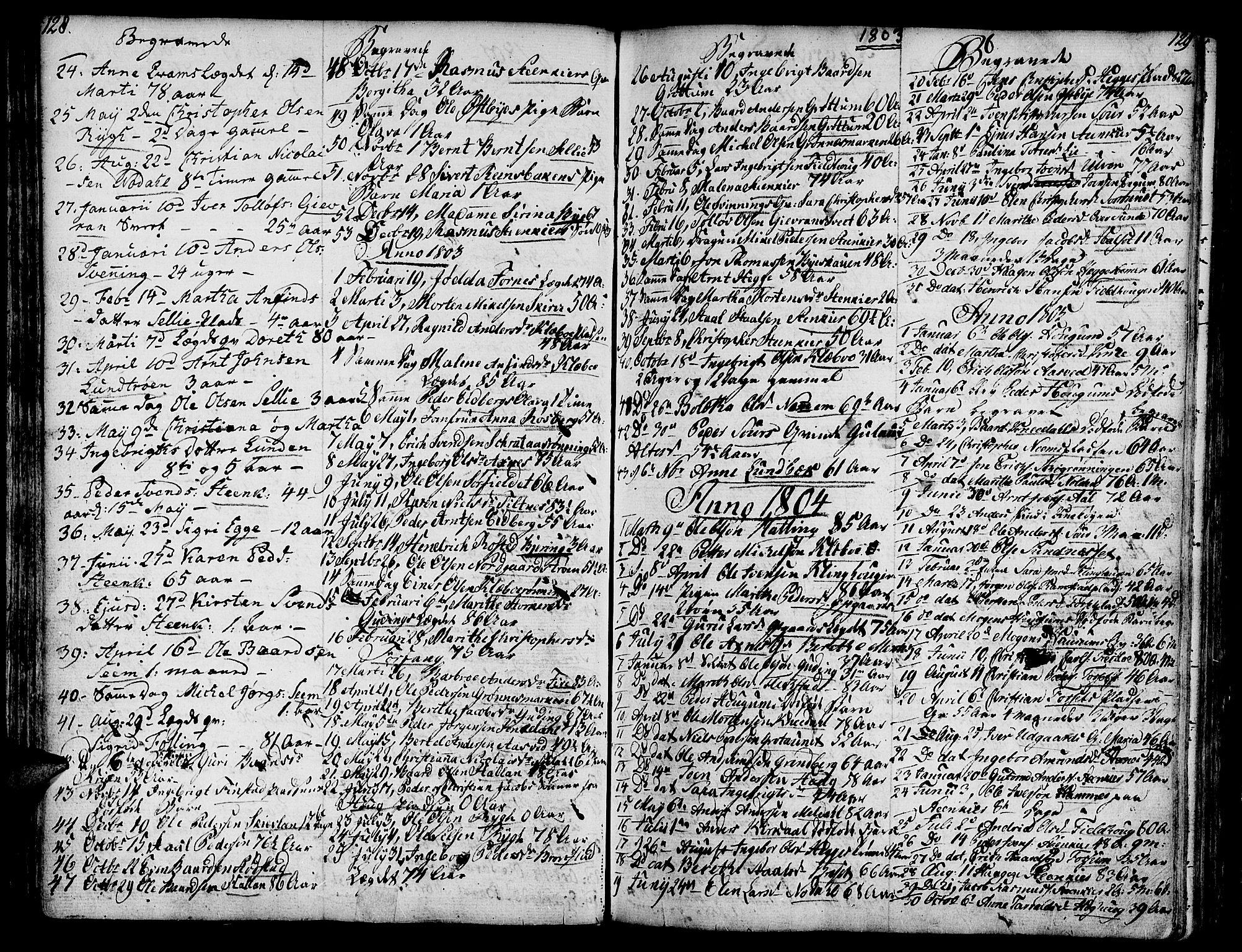 SAT, Ministerialprotokoller, klokkerbøker og fødselsregistre - Nord-Trøndelag, 746/L0440: Ministerialbok nr. 746A02, 1760-1815, s. 128-129