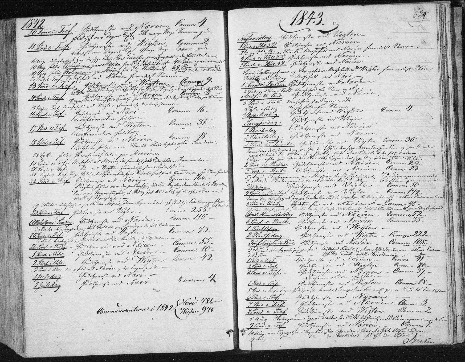 SAT, Ministerialprotokoller, klokkerbøker og fødselsregistre - Nord-Trøndelag, 784/L0669: Ministerialbok nr. 784A04, 1829-1859, s. 629