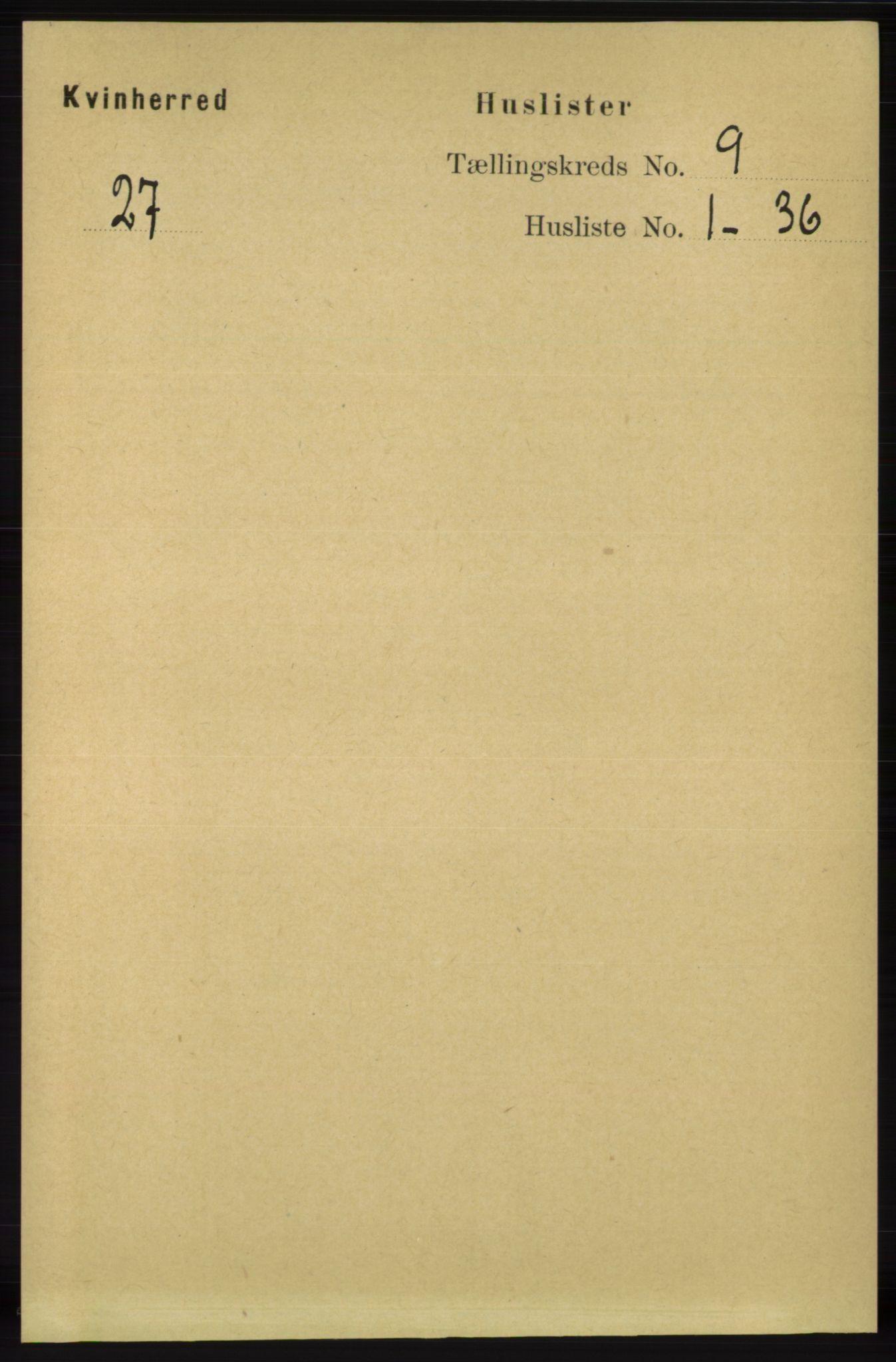 RA, Folketelling 1891 for 1224 Kvinnherad herred, 1891, s. 3264