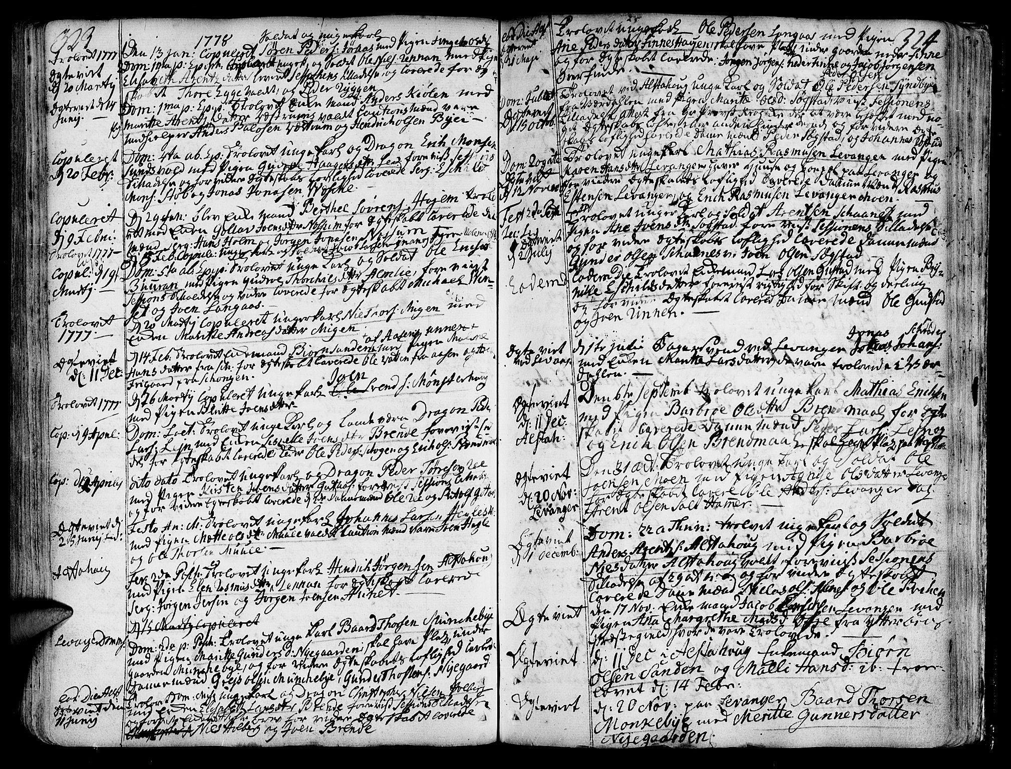 SAT, Ministerialprotokoller, klokkerbøker og fødselsregistre - Nord-Trøndelag, 717/L0141: Ministerialbok nr. 717A01, 1747-1803, s. 323-324