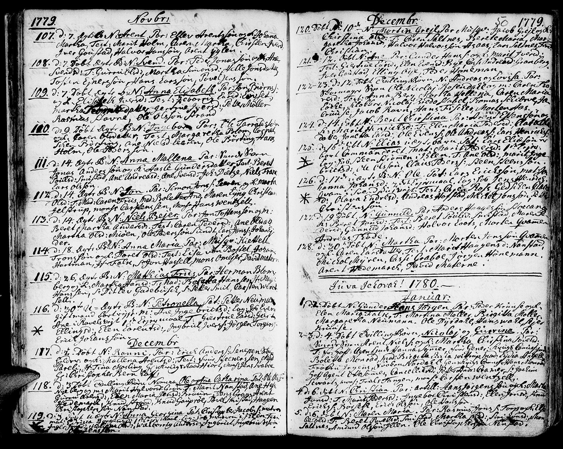 SAT, Ministerialprotokoller, klokkerbøker og fødselsregistre - Sør-Trøndelag, 601/L0039: Ministerialbok nr. 601A07, 1770-1819, s. 50