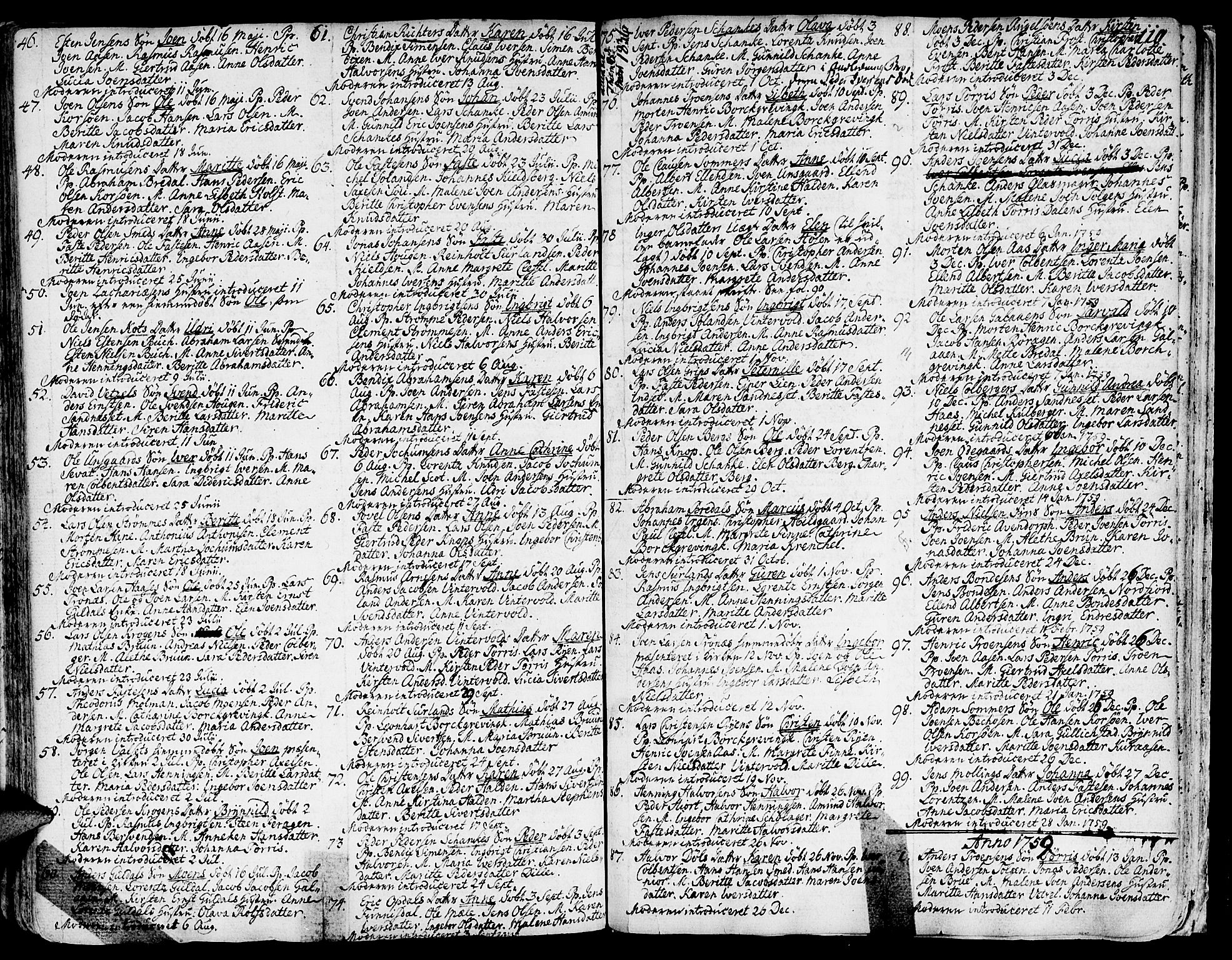 SAT, Ministerialprotokoller, klokkerbøker og fødselsregistre - Sør-Trøndelag, 681/L0925: Ministerialbok nr. 681A03, 1727-1766, s. 110