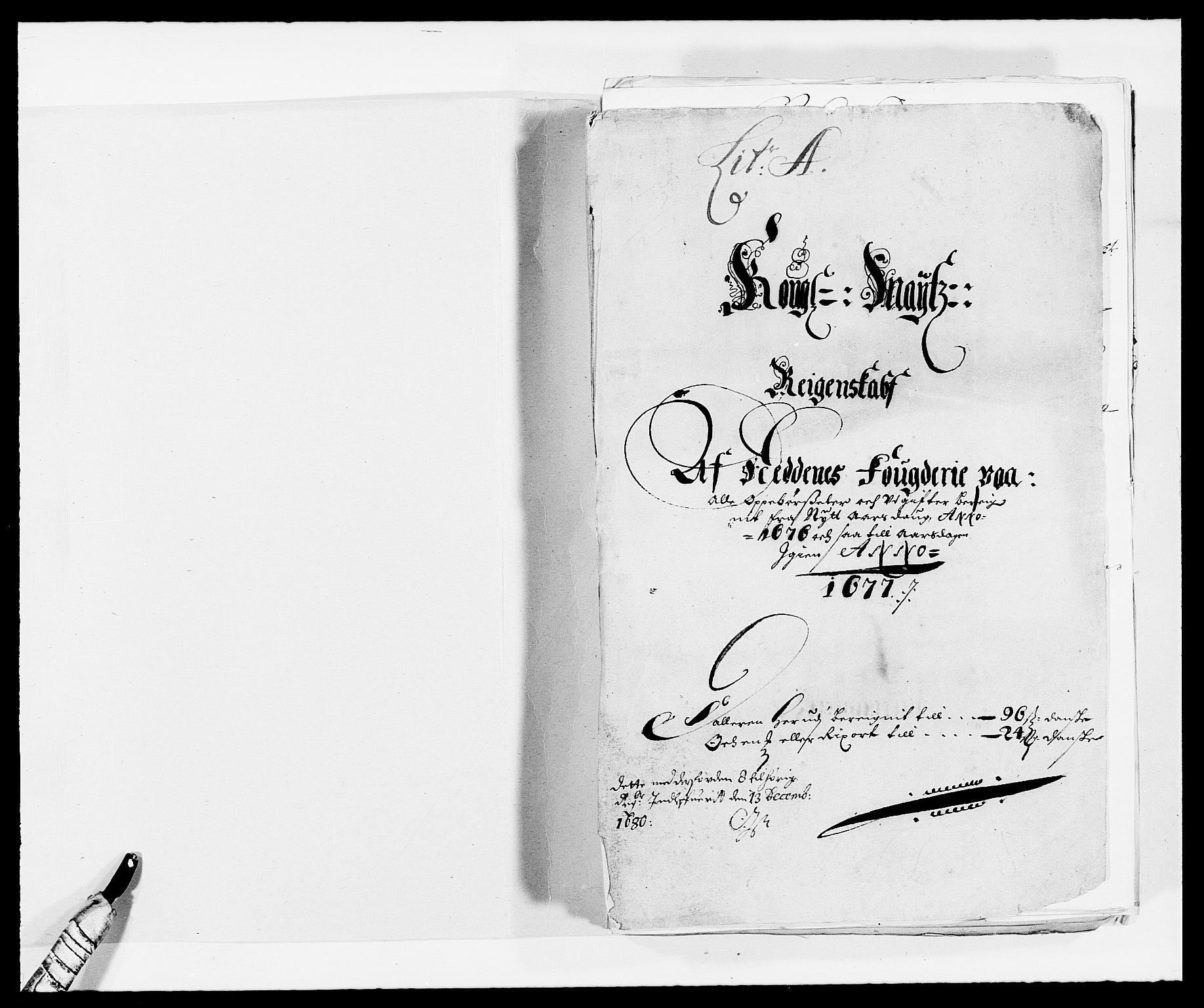 RA, Rentekammeret inntil 1814, Reviderte regnskaper, Fogderegnskap, R39/L2301: Fogderegnskap Nedenes, 1675-1676, s. 173