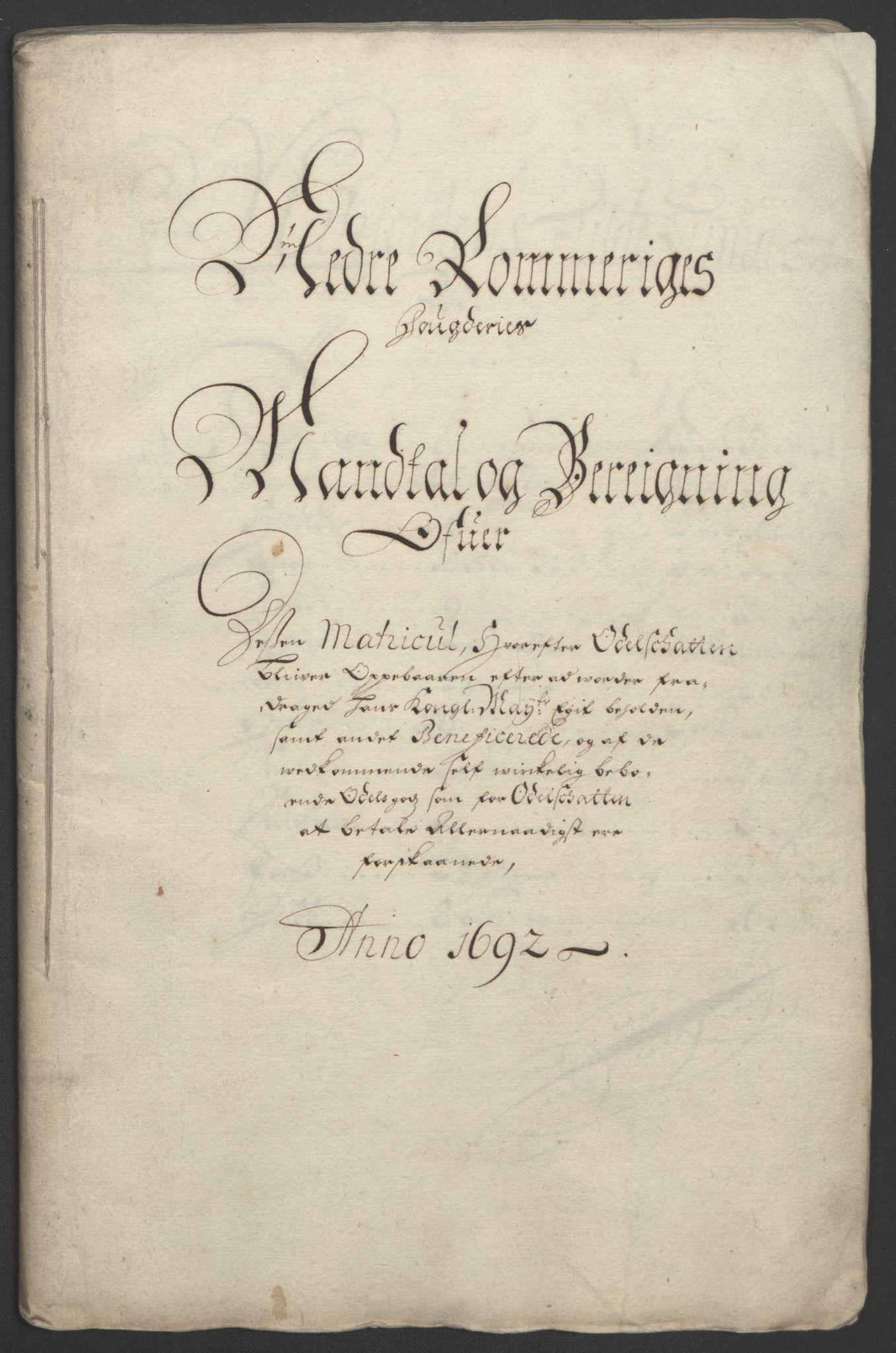 RA, Rentekammeret inntil 1814, Reviderte regnskaper, Fogderegnskap, R11/L0577: Fogderegnskap Nedre Romerike, 1692, s. 49