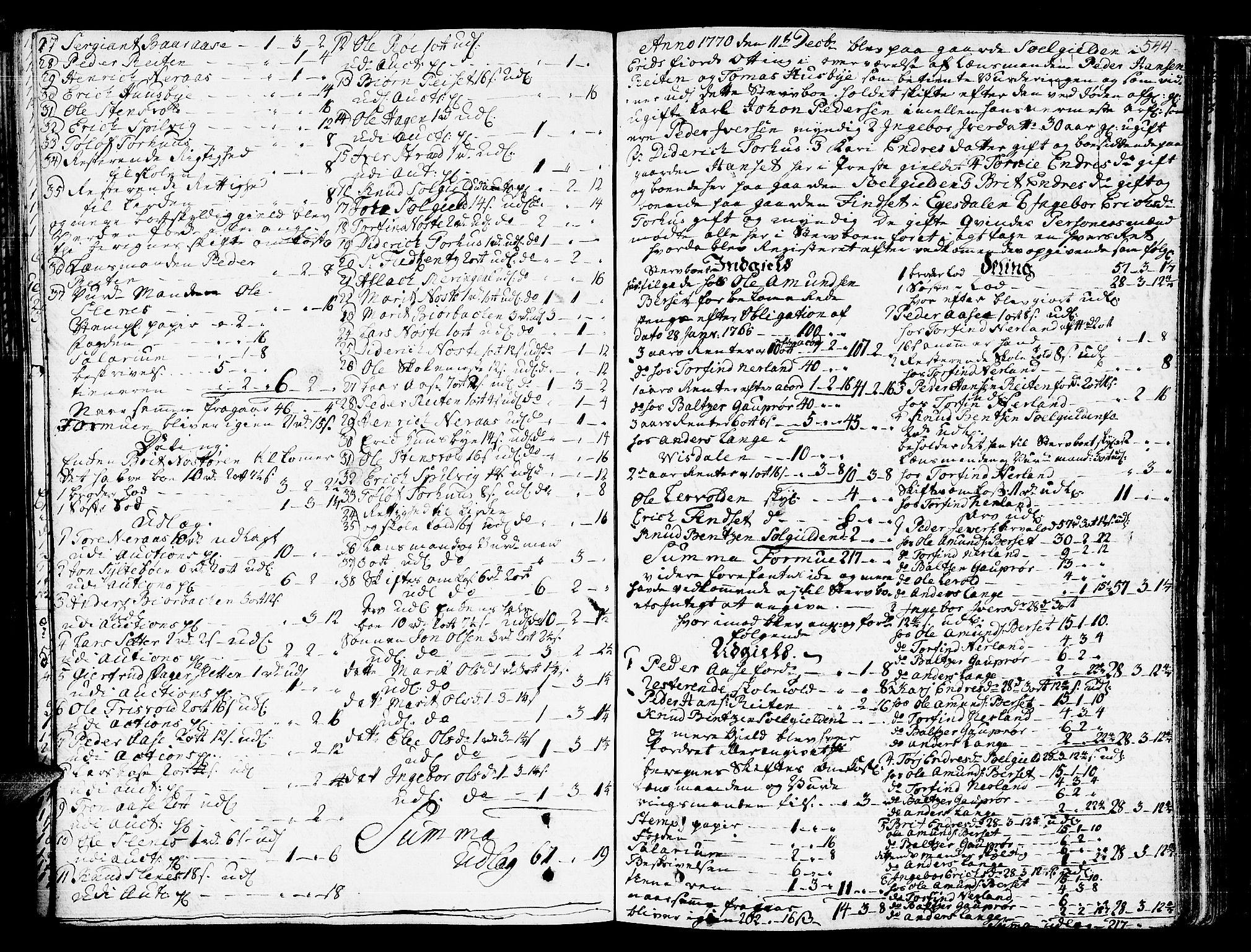 SAT, Romsdal sorenskriveri, 3/3A/L0009: Skifteprotokoll, 1761-1773, s. 543b-544a