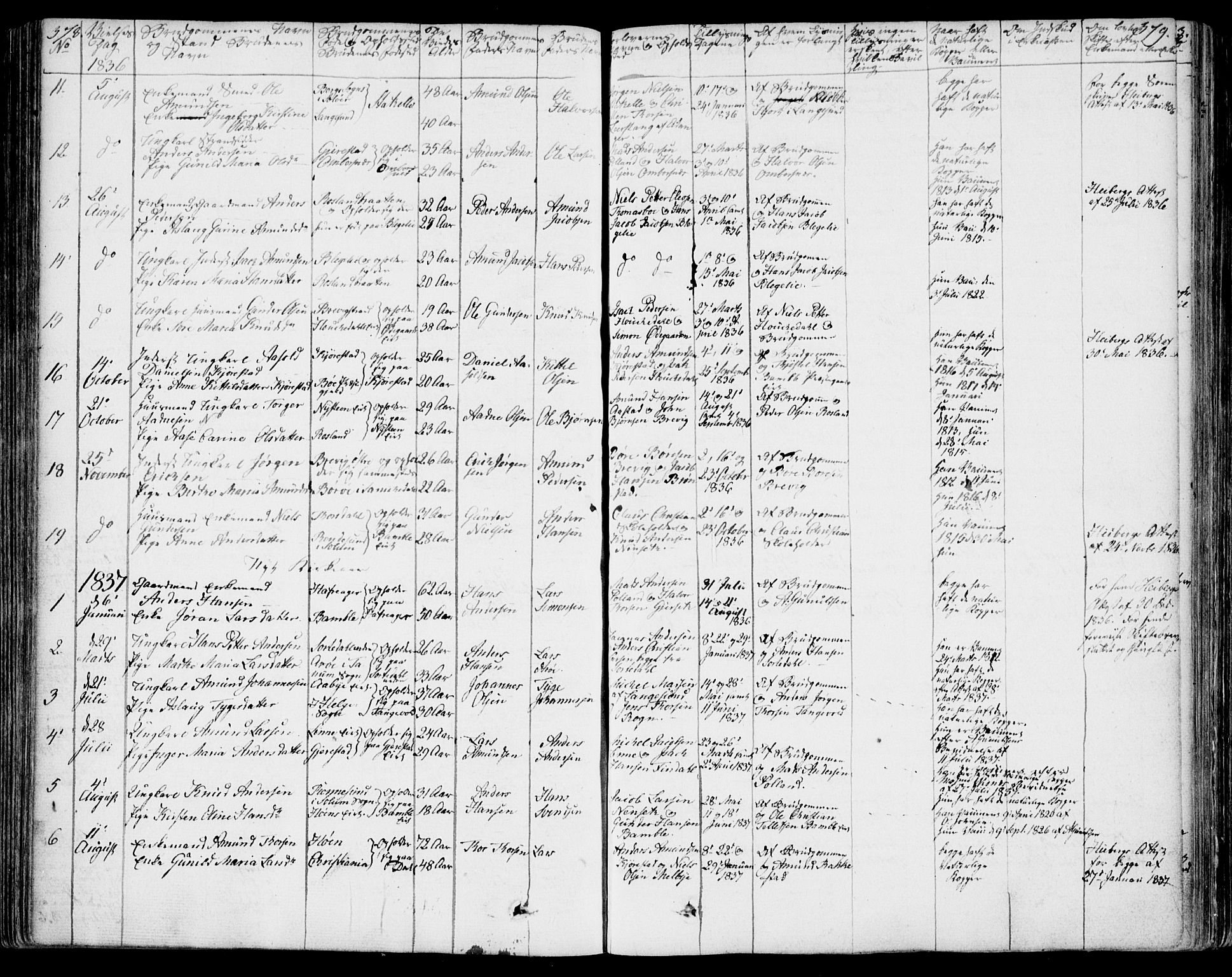 SAKO, Bamble kirkebøker, F/Fa/L0004: Ministerialbok nr. I 4, 1834-1853, s. 378-379