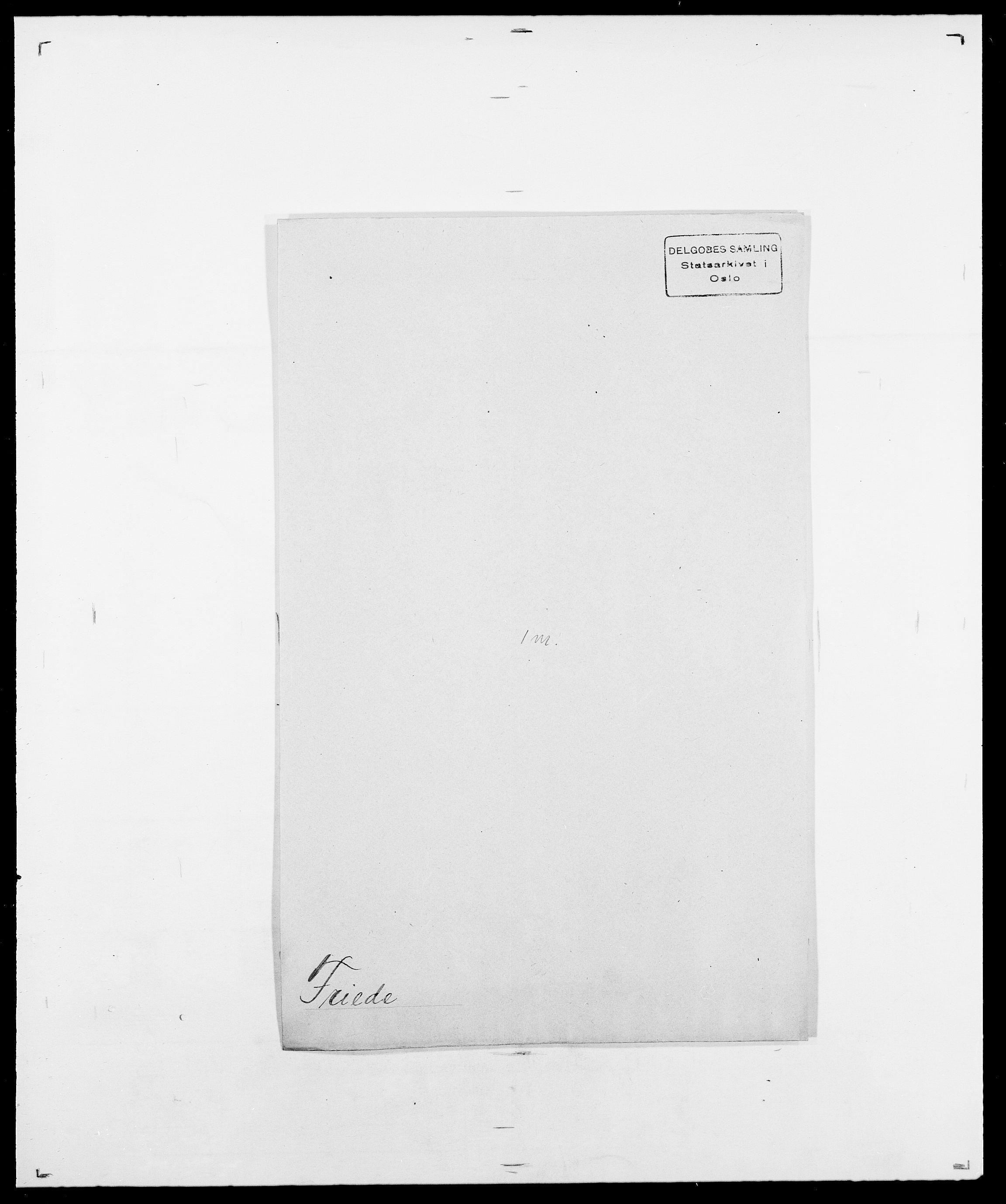 SAO, Delgobe, Charles Antoine - samling, D/Da/L0012: Flor, Floer, Flohr - Fritzner, s. 901