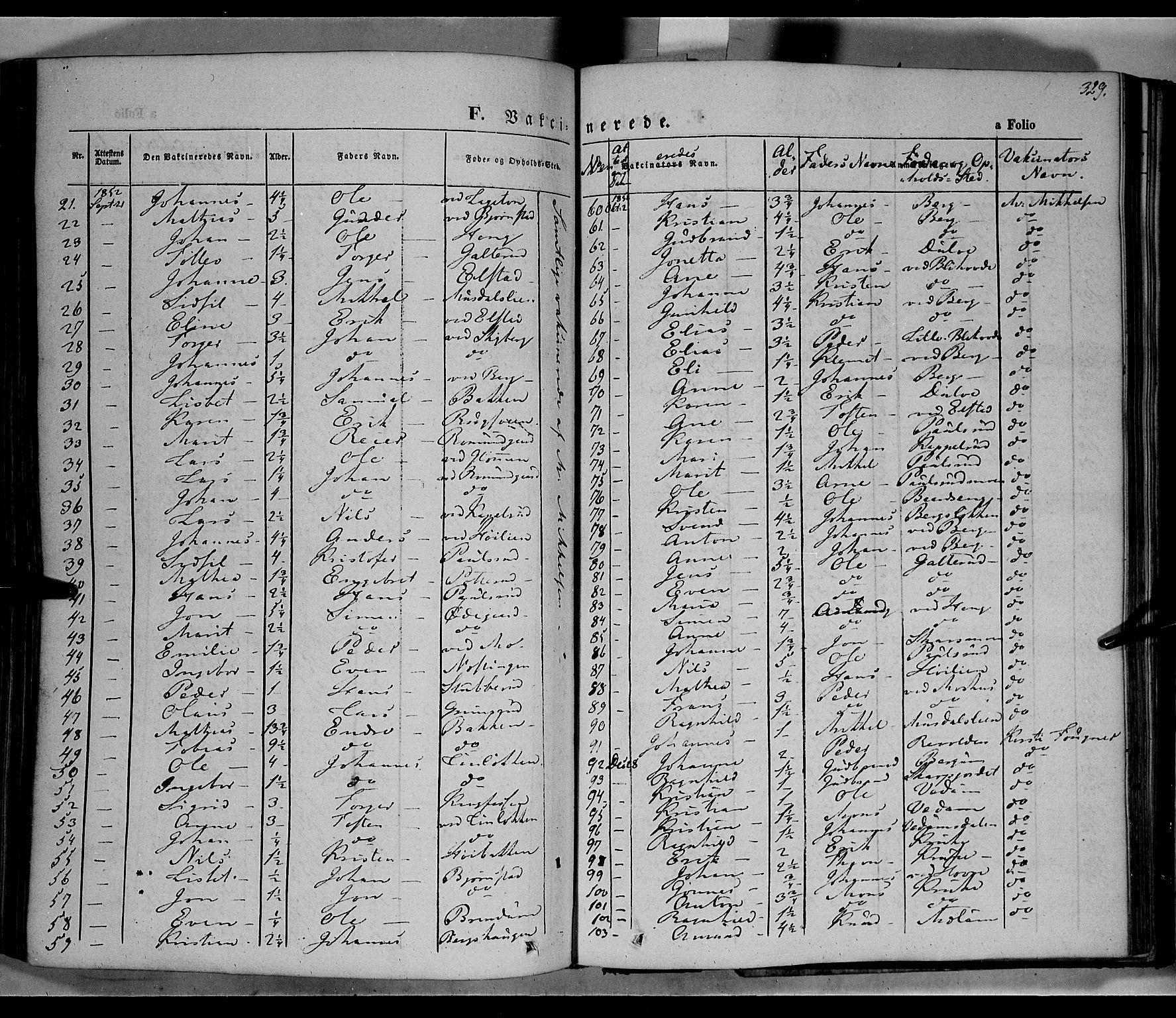 SAH, Øyer prestekontor, Ministerialbok nr. 5, 1842-1857, s. 329