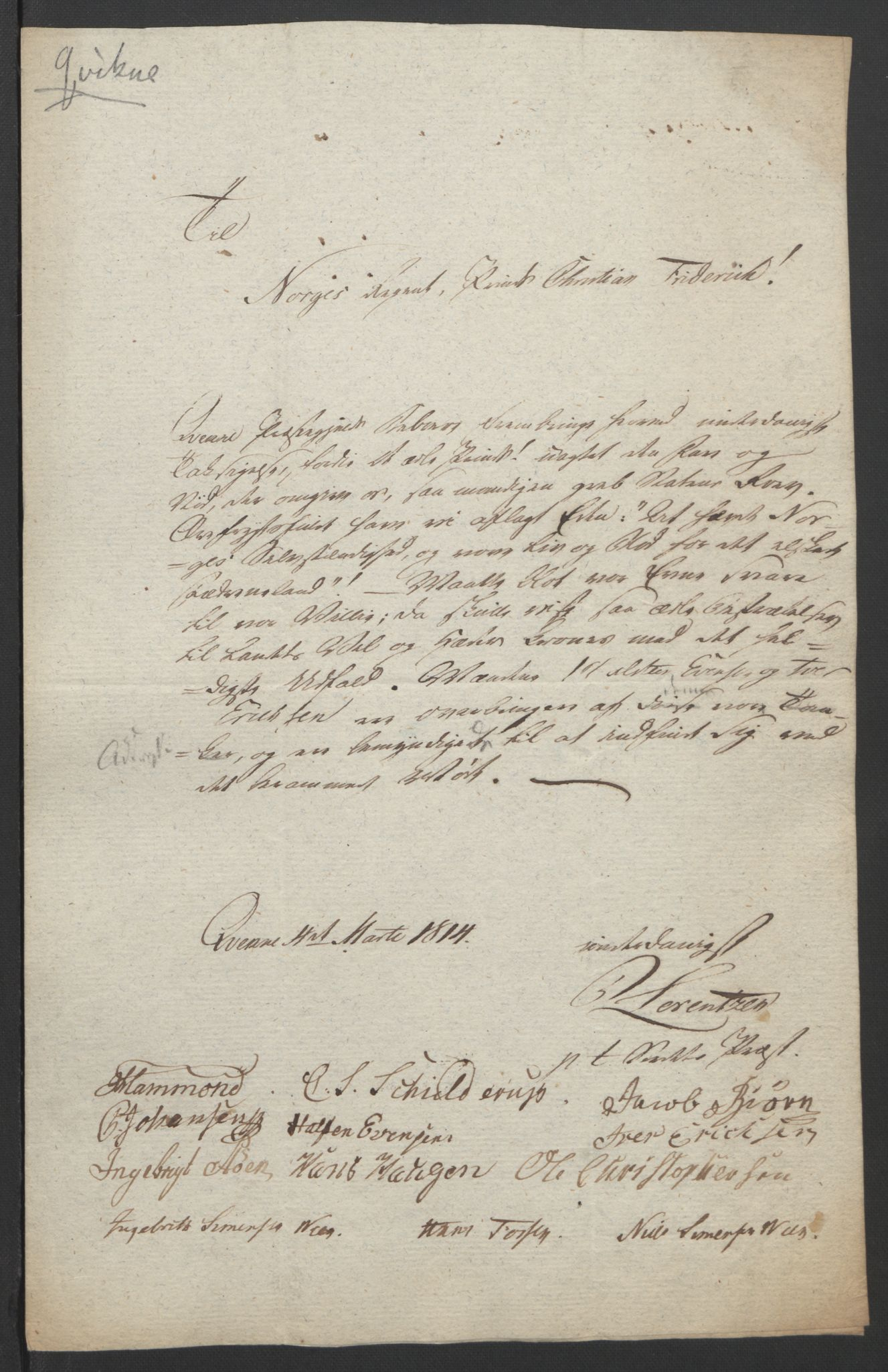 RA, Statsrådssekretariatet, D/Db/L0007: Fullmakter for Eidsvollsrepresentantene i 1814. , 1814, s. 225