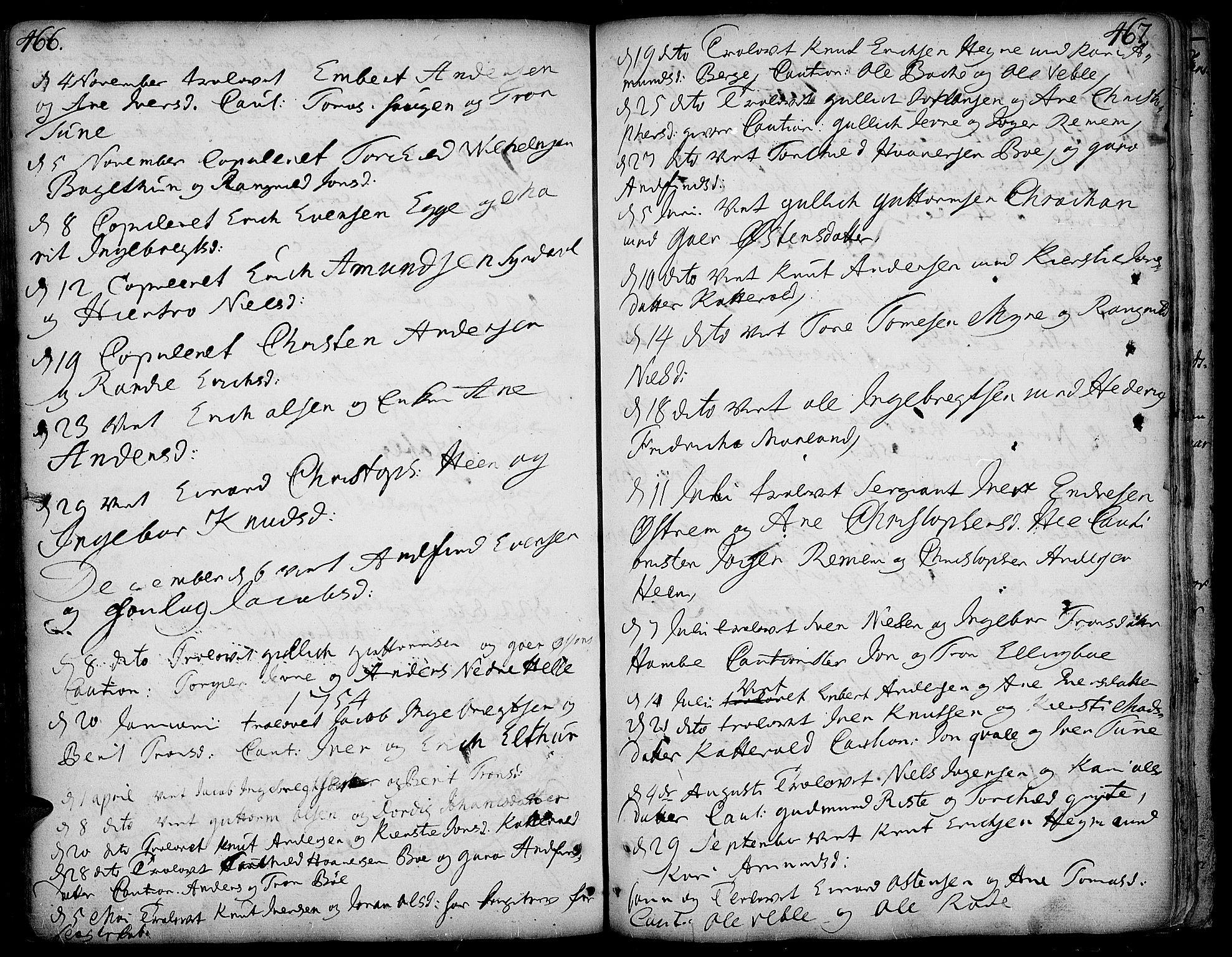 SAH, Vang prestekontor, Valdres, Ministerialbok nr. 1, 1730-1796, s. 466-467