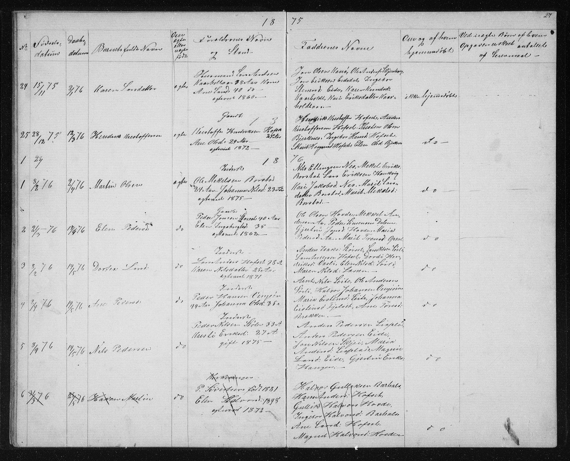 SAT, Ministerialprotokoller, klokkerbøker og fødselsregistre - Sør-Trøndelag, 631/L0513: Klokkerbok nr. 631C01, 1869-1879, s. 27