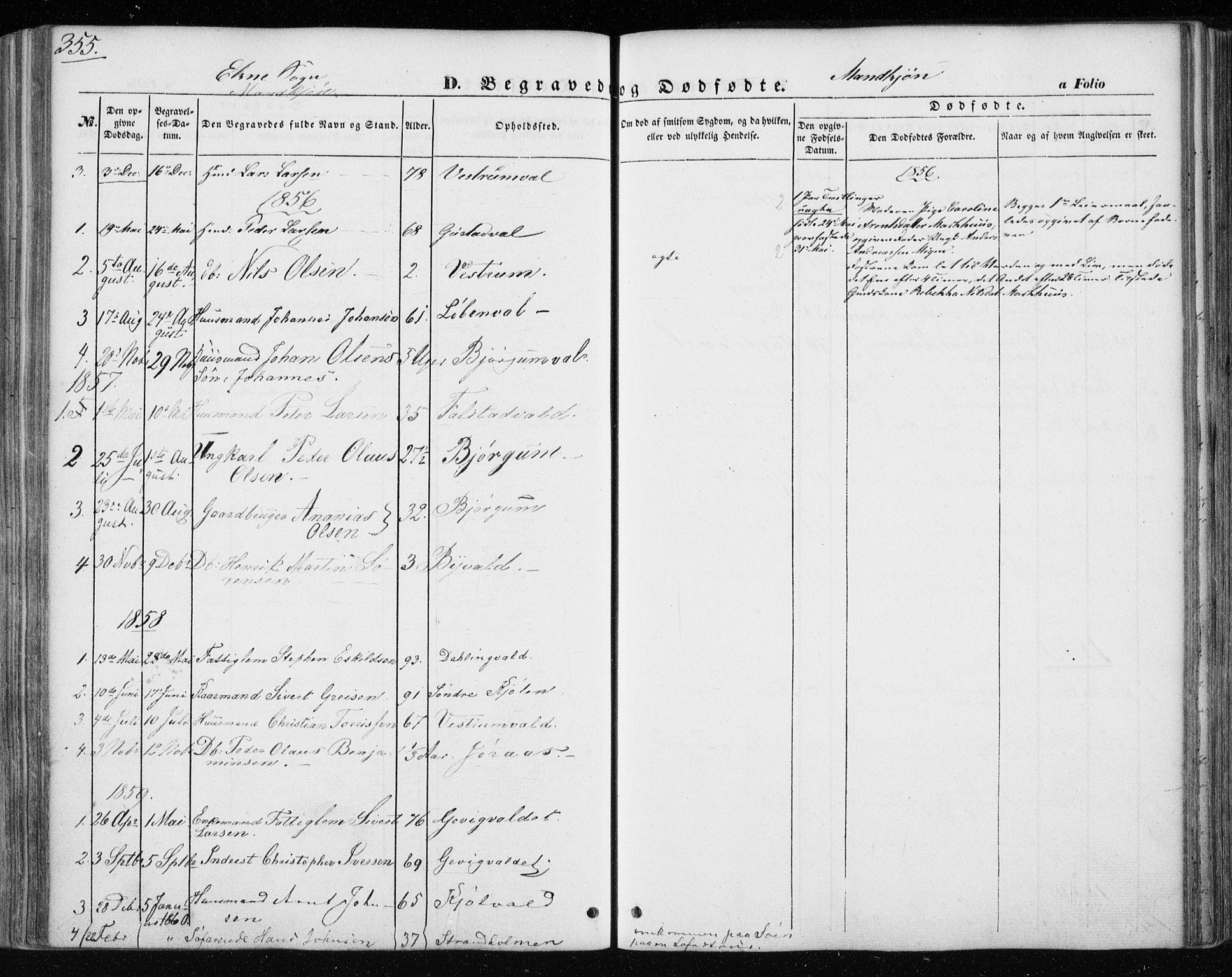 SAT, Ministerialprotokoller, klokkerbøker og fødselsregistre - Nord-Trøndelag, 717/L0154: Ministerialbok nr. 717A07 /3, 1850-1862, s. 355