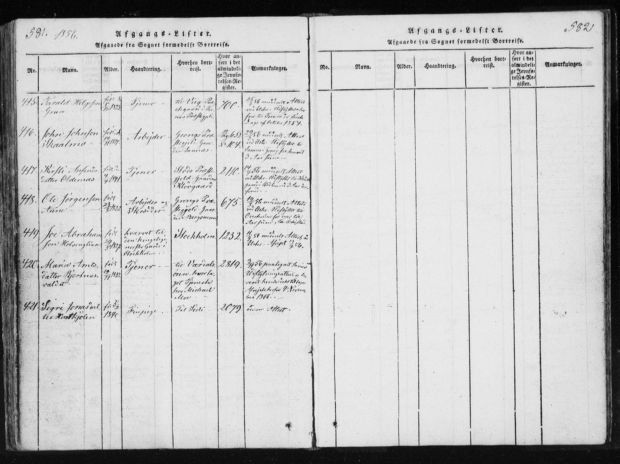 SAT, Ministerialprotokoller, klokkerbøker og fødselsregistre - Nord-Trøndelag, 749/L0469: Ministerialbok nr. 749A03, 1817-1857, s. 581-582