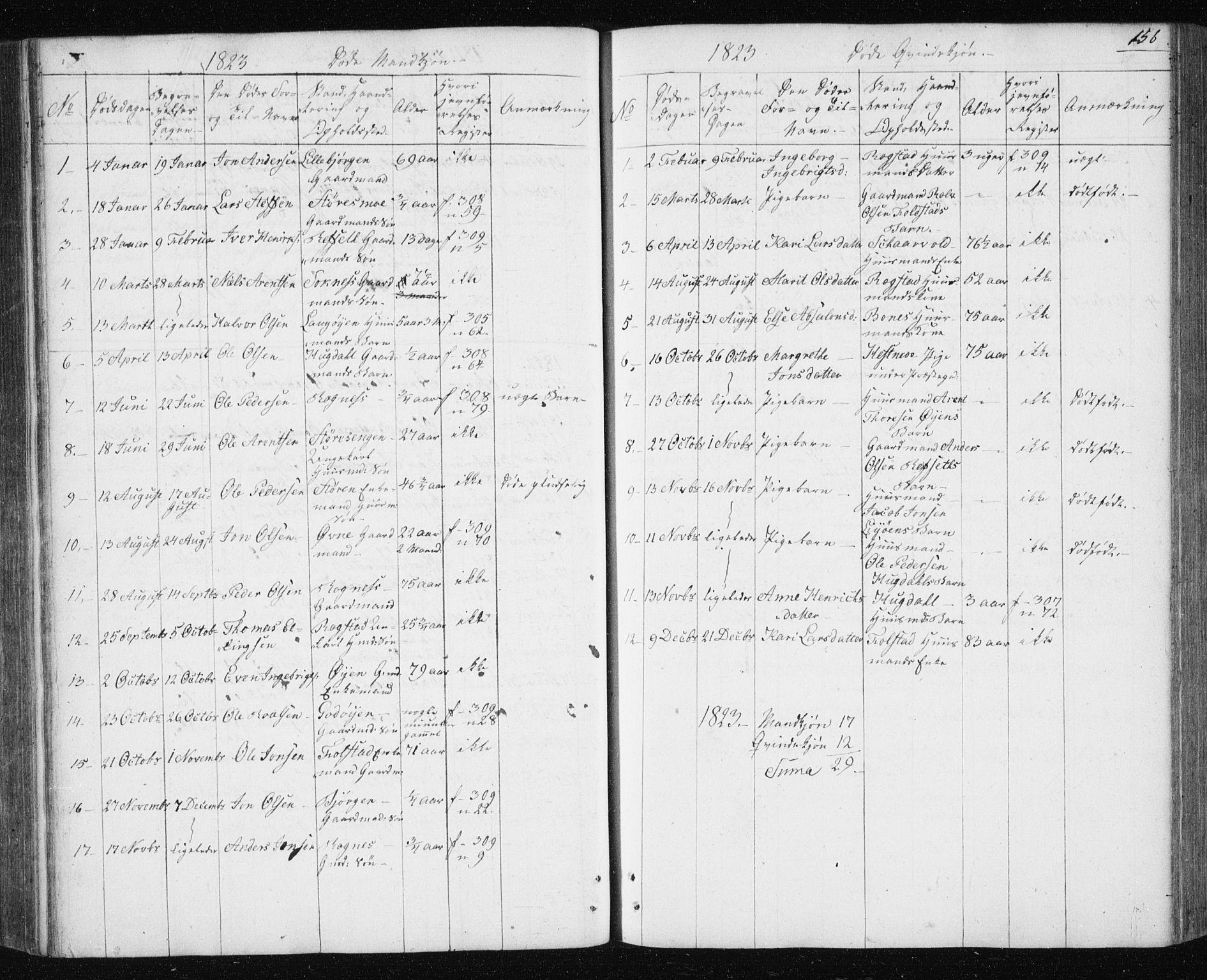 SAT, Ministerialprotokoller, klokkerbøker og fødselsregistre - Sør-Trøndelag, 687/L1017: Klokkerbok nr. 687C01, 1816-1837, s. 156