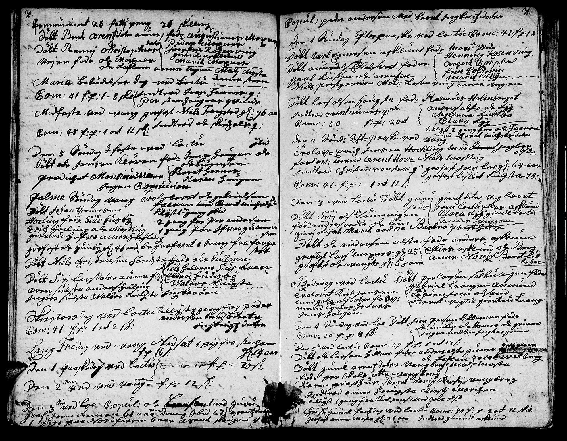 SAT, Ministerialprotokoller, klokkerbøker og fødselsregistre - Nord-Trøndelag, 713/L0109: Ministerialbok nr. 713A01, 1750-1778, s. 30-31