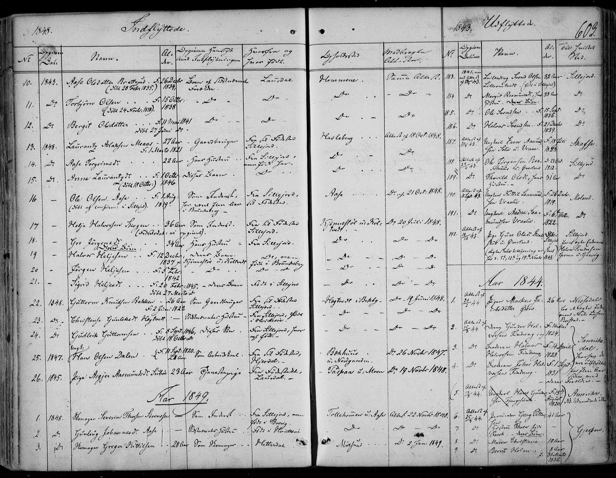 SAKO, Kviteseid kirkebøker, F/Fa/L0006: Ministerialbok nr. I 6, 1836-1858, s. 603