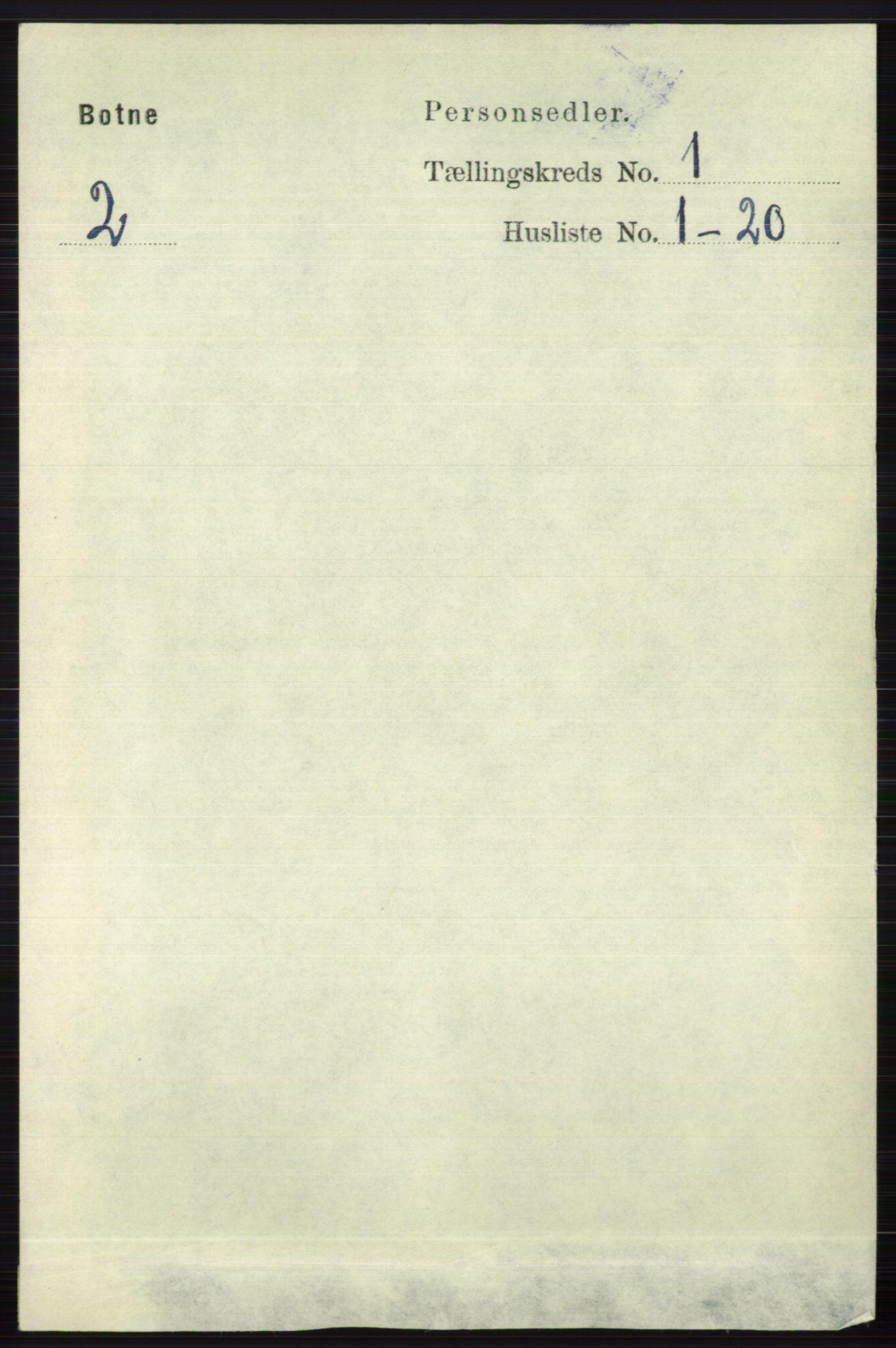RA, Folketelling 1891 for 0715 Botne herred, 1891, s. 101