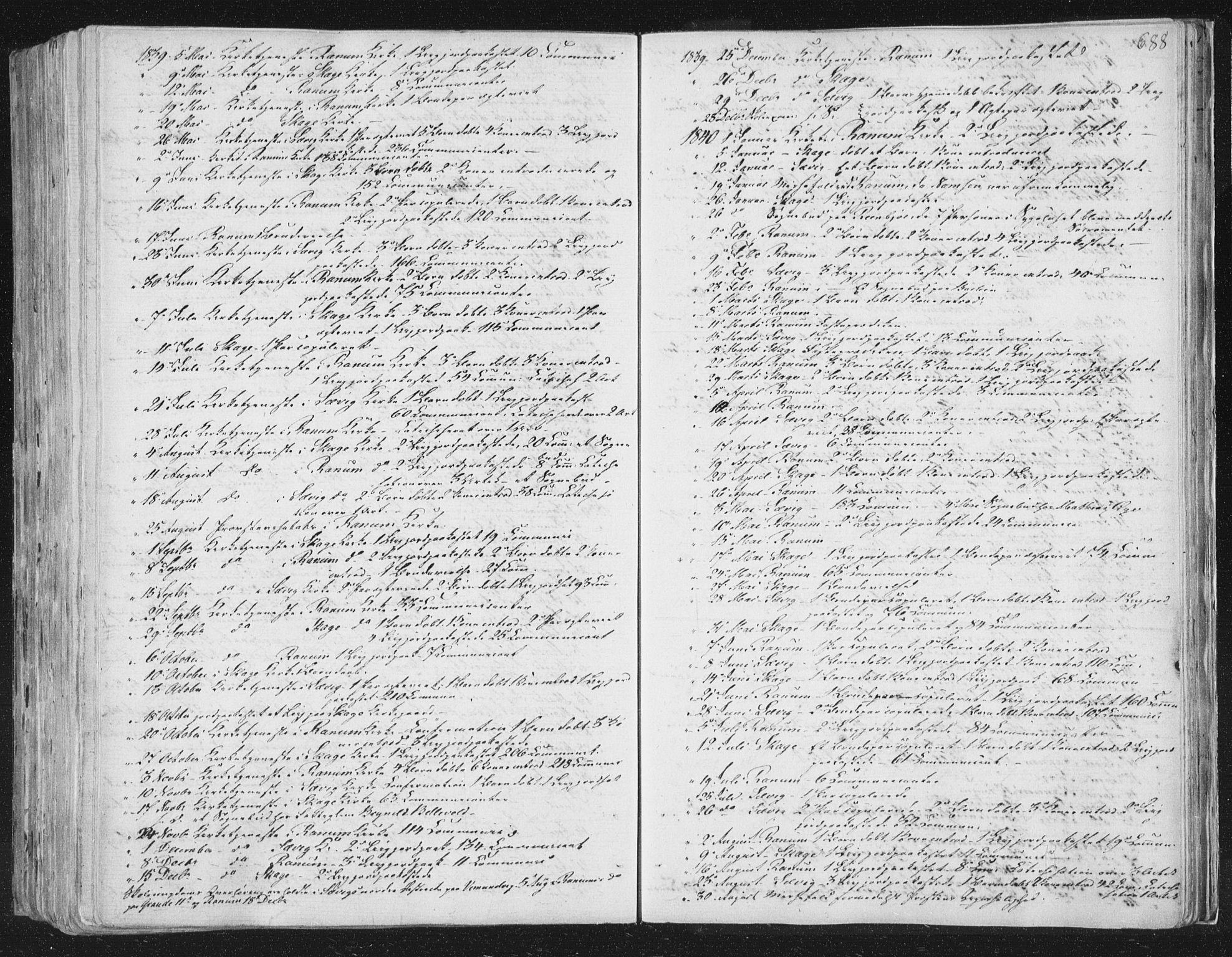 SAT, Ministerialprotokoller, klokkerbøker og fødselsregistre - Nord-Trøndelag, 764/L0552: Ministerialbok nr. 764A07b, 1824-1865, s. 688