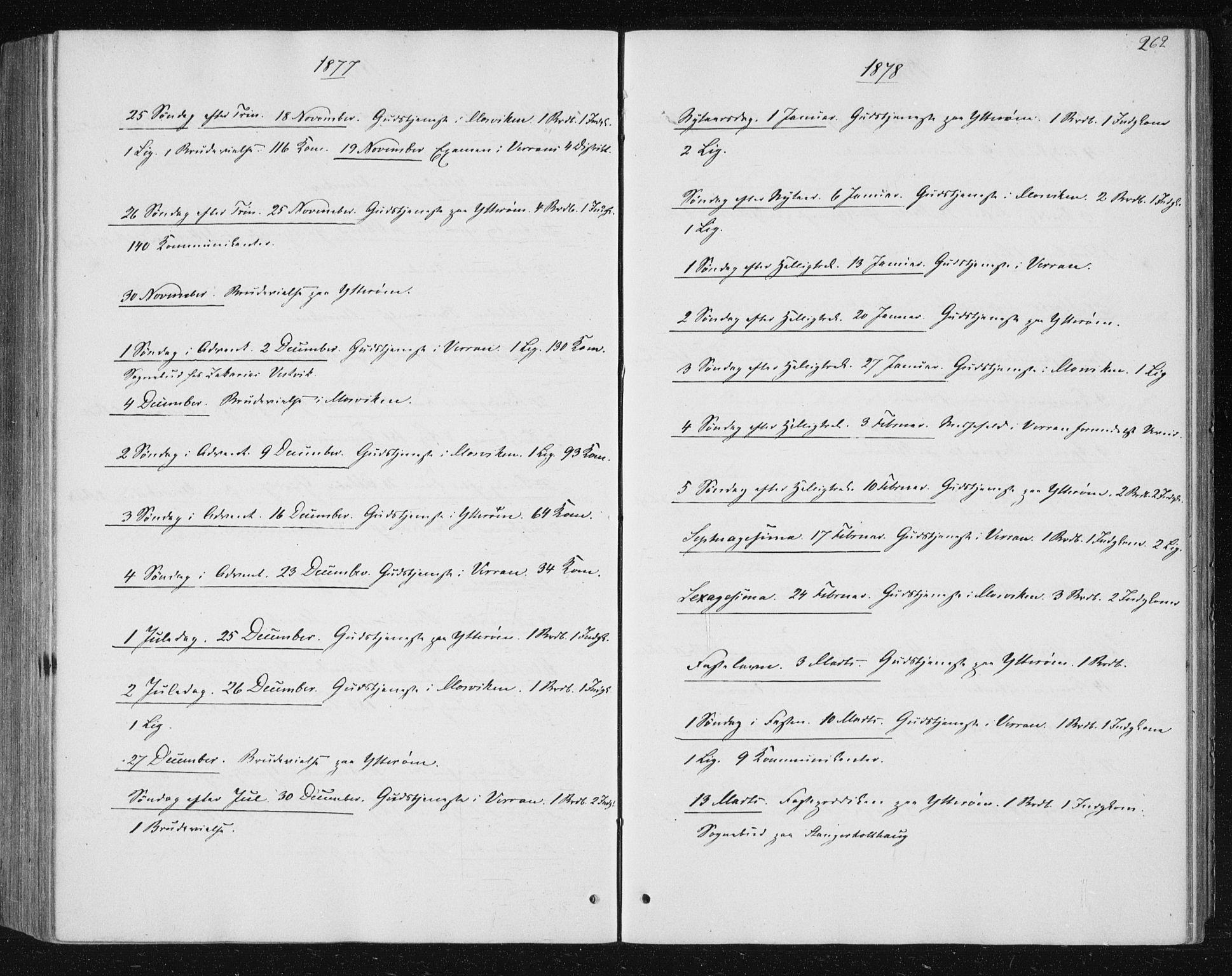 SAT, Ministerialprotokoller, klokkerbøker og fødselsregistre - Nord-Trøndelag, 722/L0219: Ministerialbok nr. 722A06, 1868-1880, s. 262