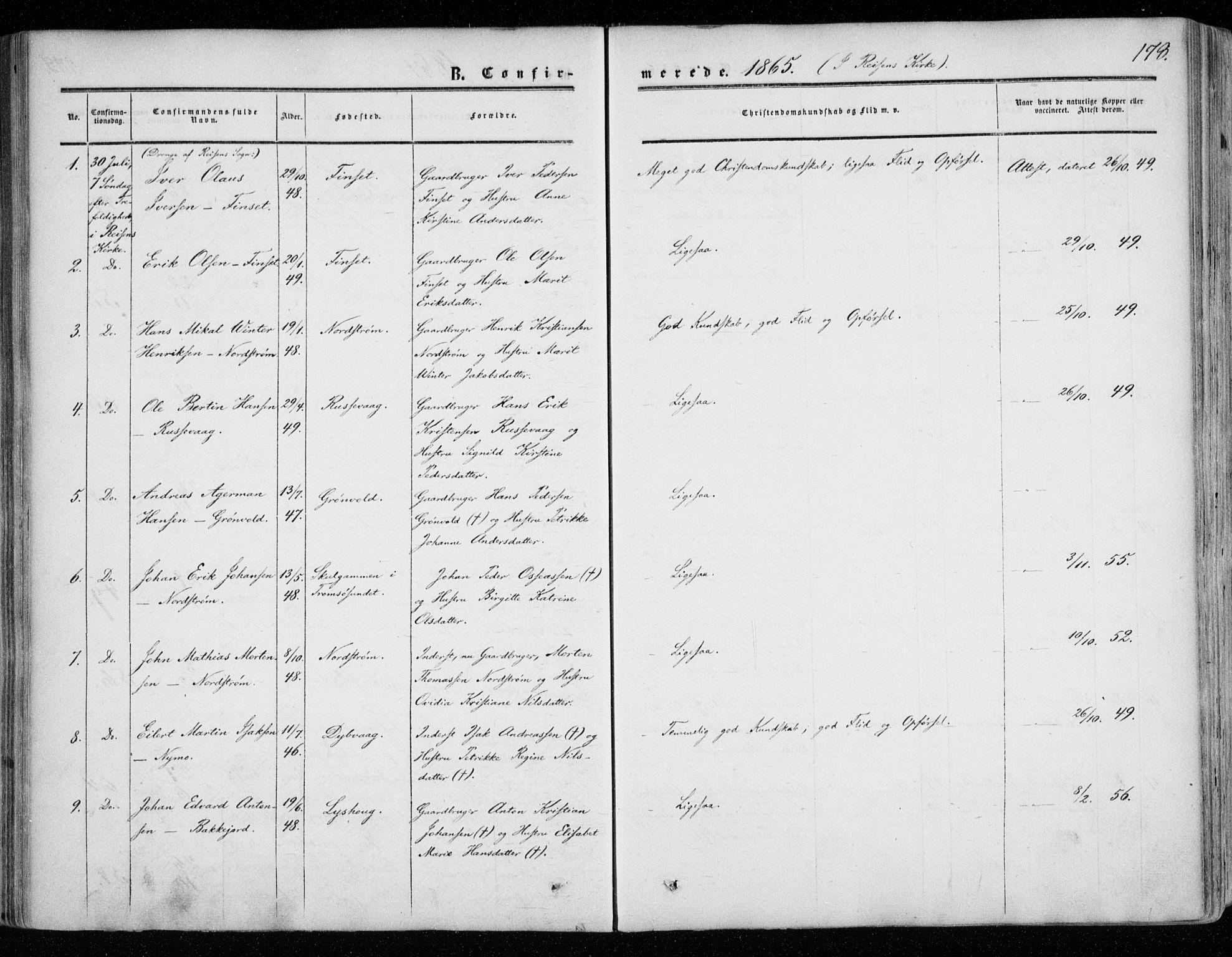 SATØ, Tranøy sokneprestkontor, I/Ia/Iaa/L0007kirke: Ministerialbok nr. 7, 1856-1866, s. 178