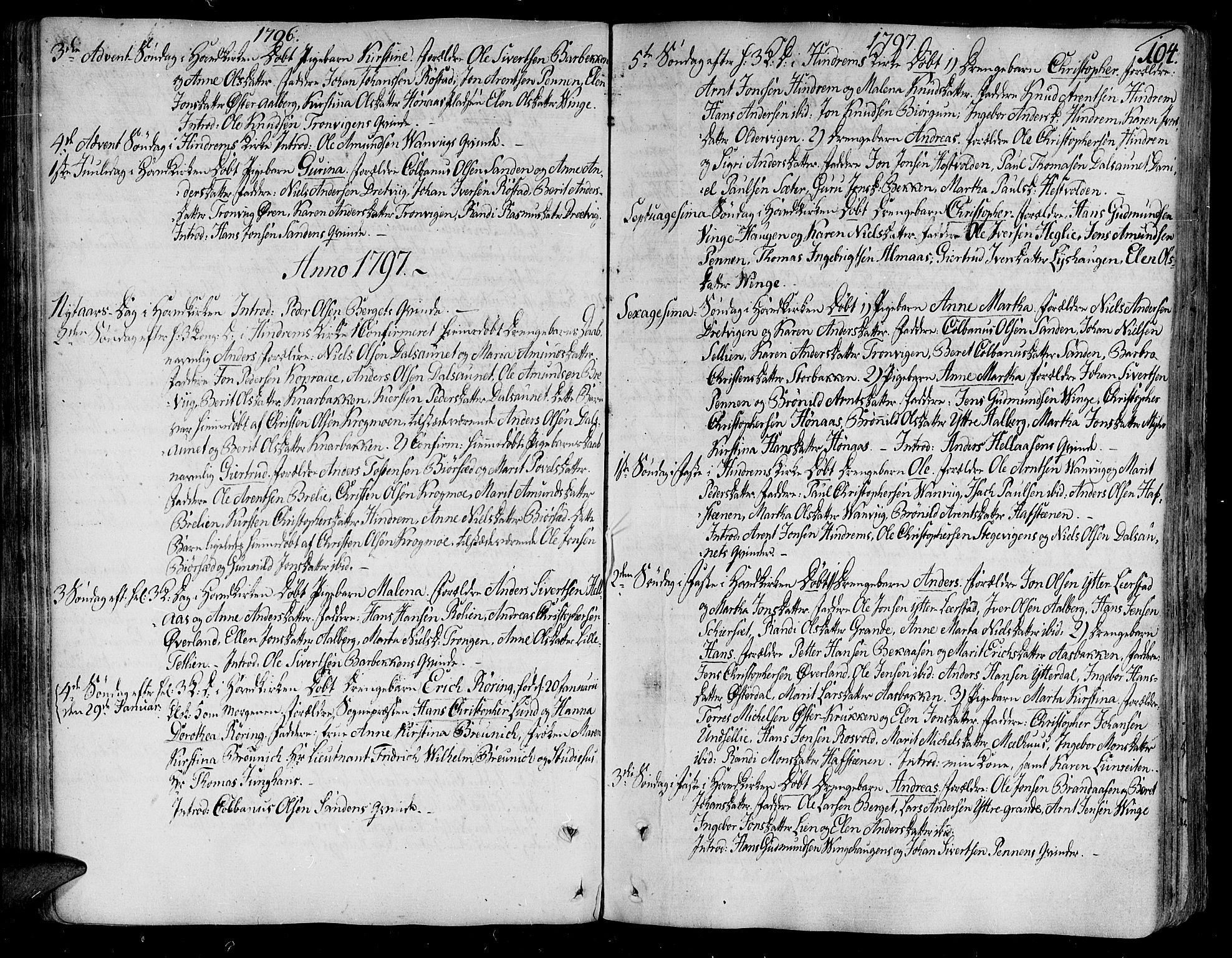 SAT, Ministerialprotokoller, klokkerbøker og fødselsregistre - Nord-Trøndelag, 701/L0004: Ministerialbok nr. 701A04, 1783-1816, s. 104