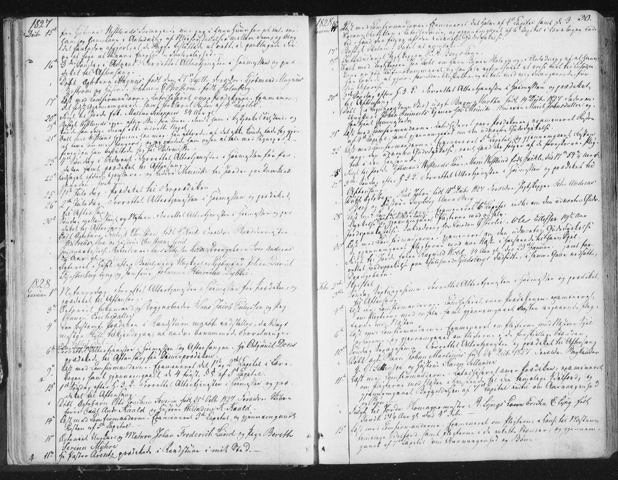 SAT, Ministerialprotokoller, klokkerbøker og fødselsregistre - Sør-Trøndelag, 602/L0127: Residerende kapellans bok nr. 602B01, 1821-1875, s. 30