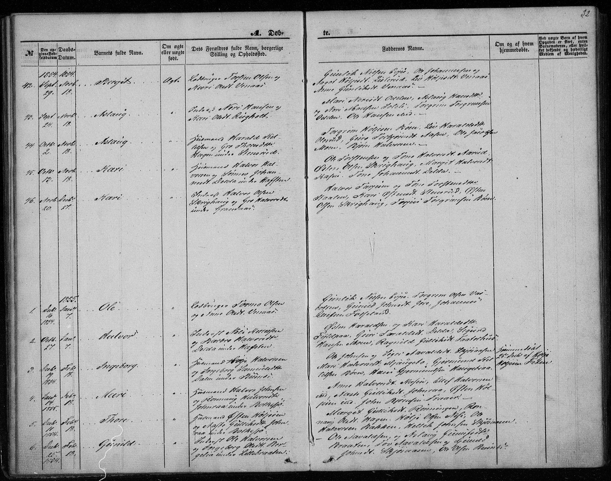 SAKO, Gransherad kirkebøker, F/Fa/L0002: Ministerialbok nr. I 2, 1844-1859, s. 32