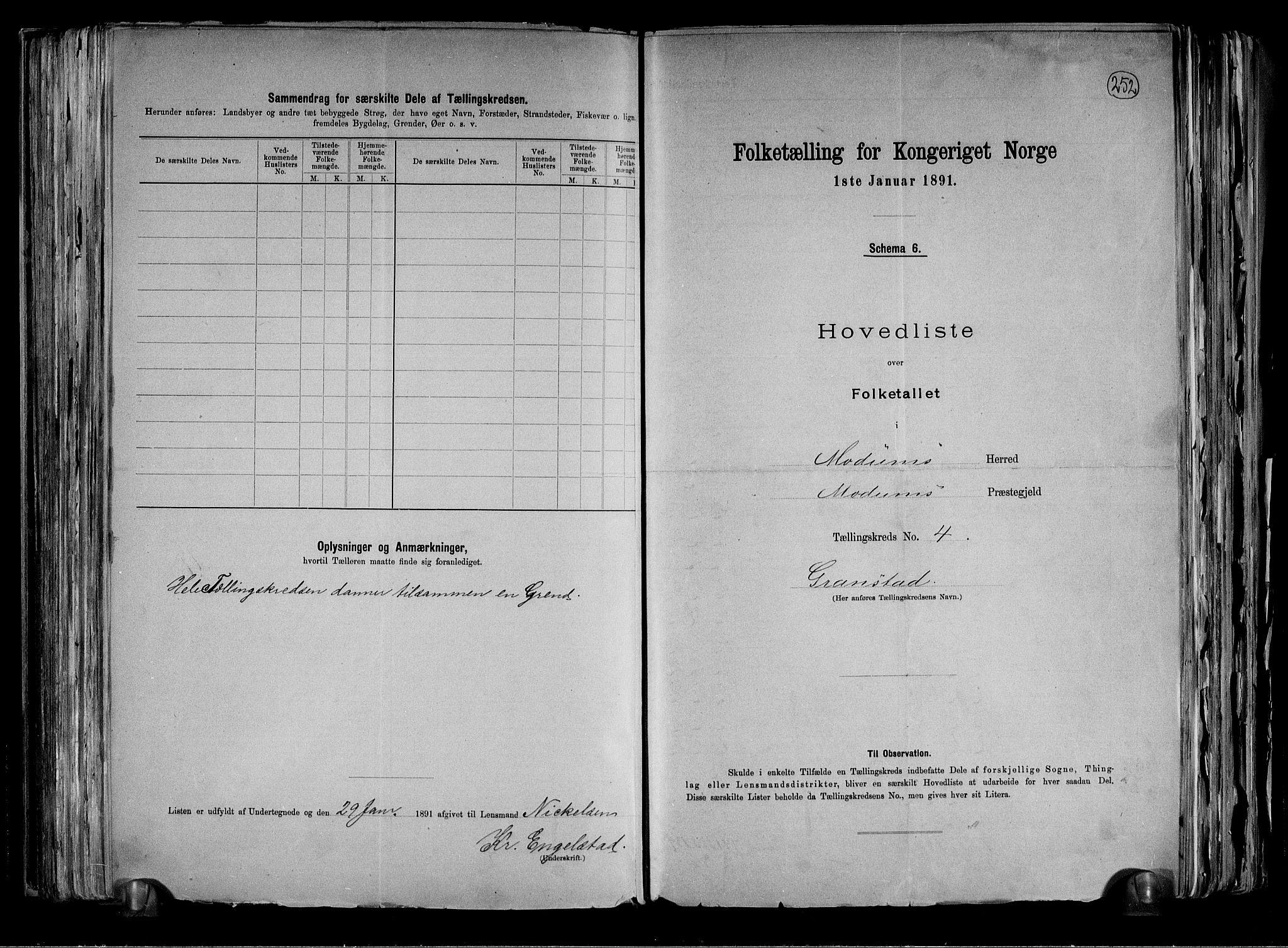 RA, Folketelling 1891 for 0623 Modum herred, 1891, s. 14