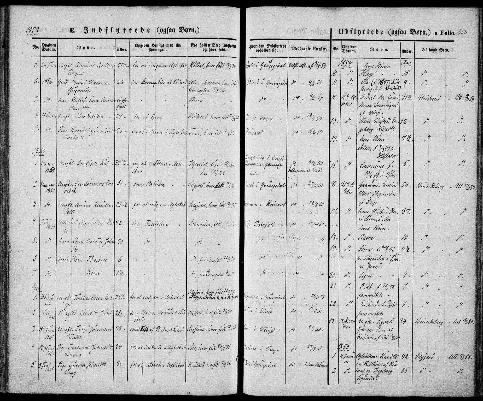 SAKO, Vinje kirkebøker, F/Fa/L0004: Ministerialbok nr. I 4, 1843-1869, s. 408