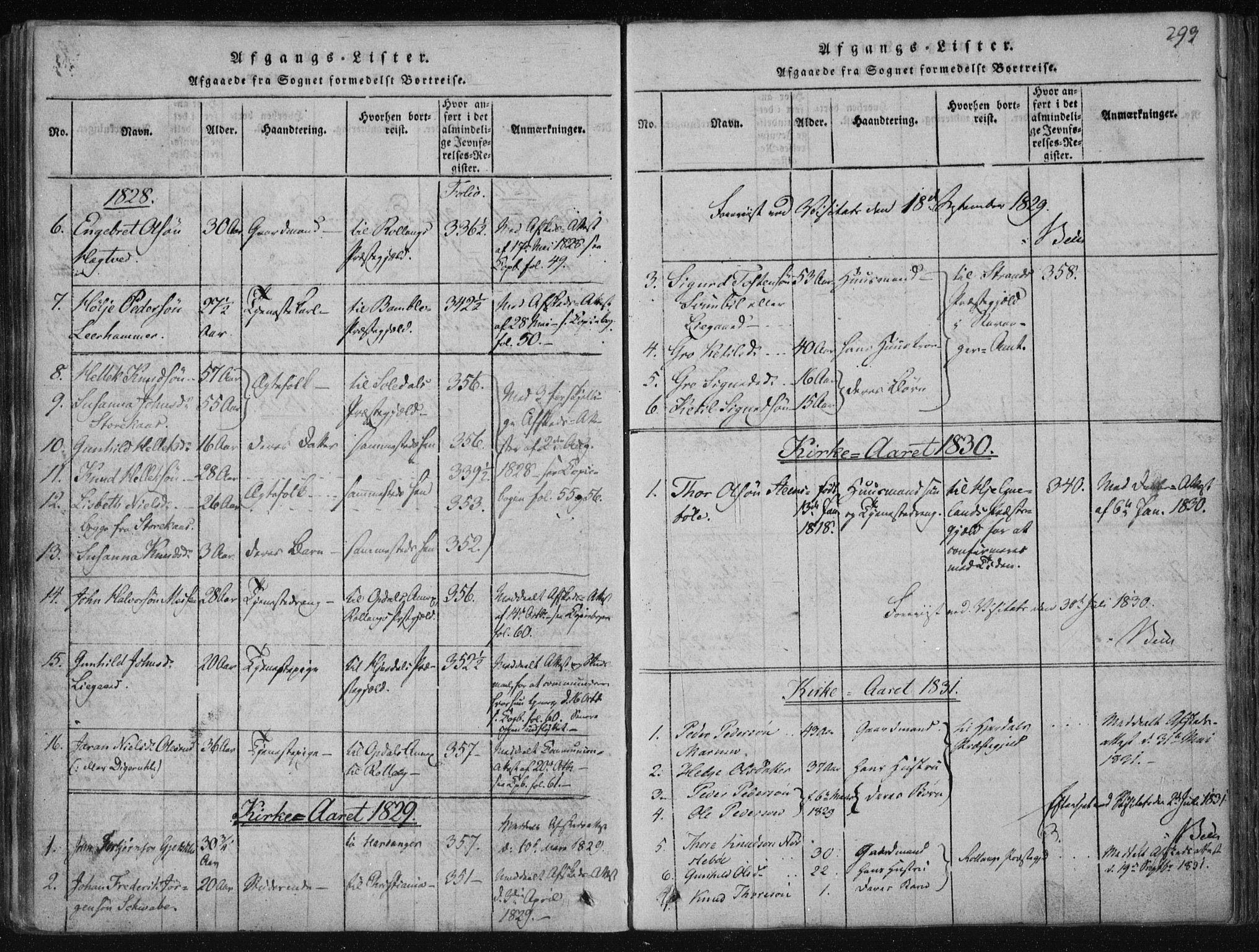SAKO, Tinn kirkebøker, F/Fa/L0004: Ministerialbok nr. I 4, 1815-1843, s. 293