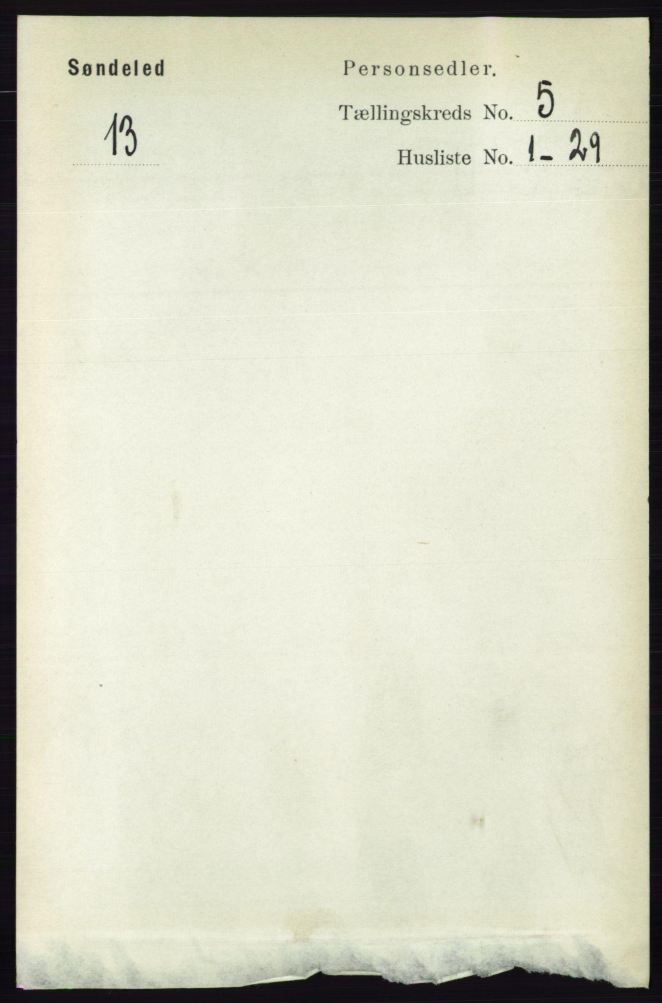 RA, Folketelling 1891 for 0913 Søndeled herred, 1891, s. 1216