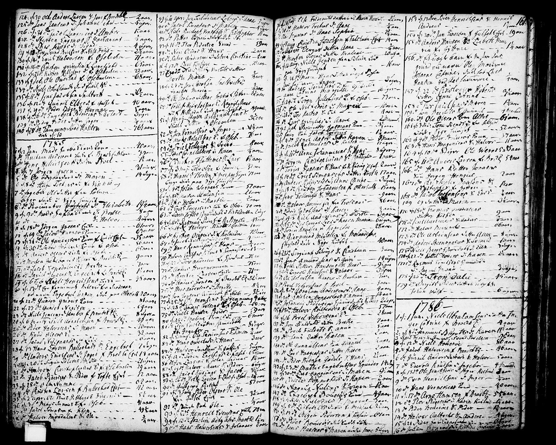 SAKO, Gjerpen kirkebøker, F/Fa/L0002: Ministerialbok nr. 2, 1747-1795, s. 161