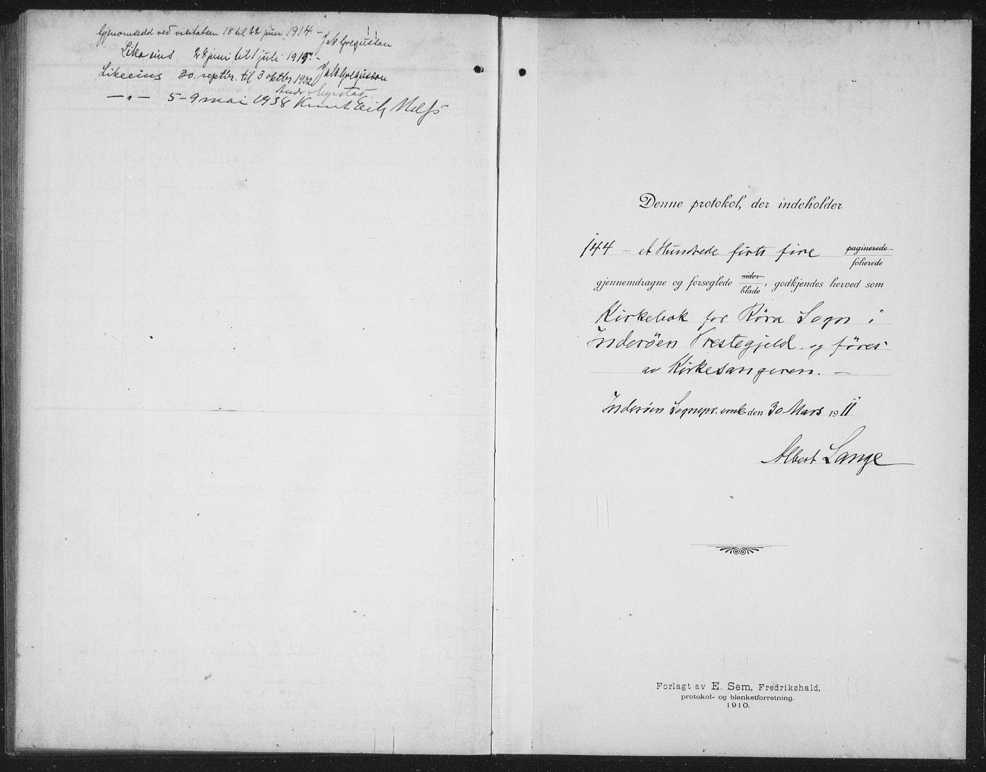 SAT, Ministerialprotokoller, klokkerbøker og fødselsregistre - Nord-Trøndelag, 731/L0312: Klokkerbok nr. 731C03, 1911-1935