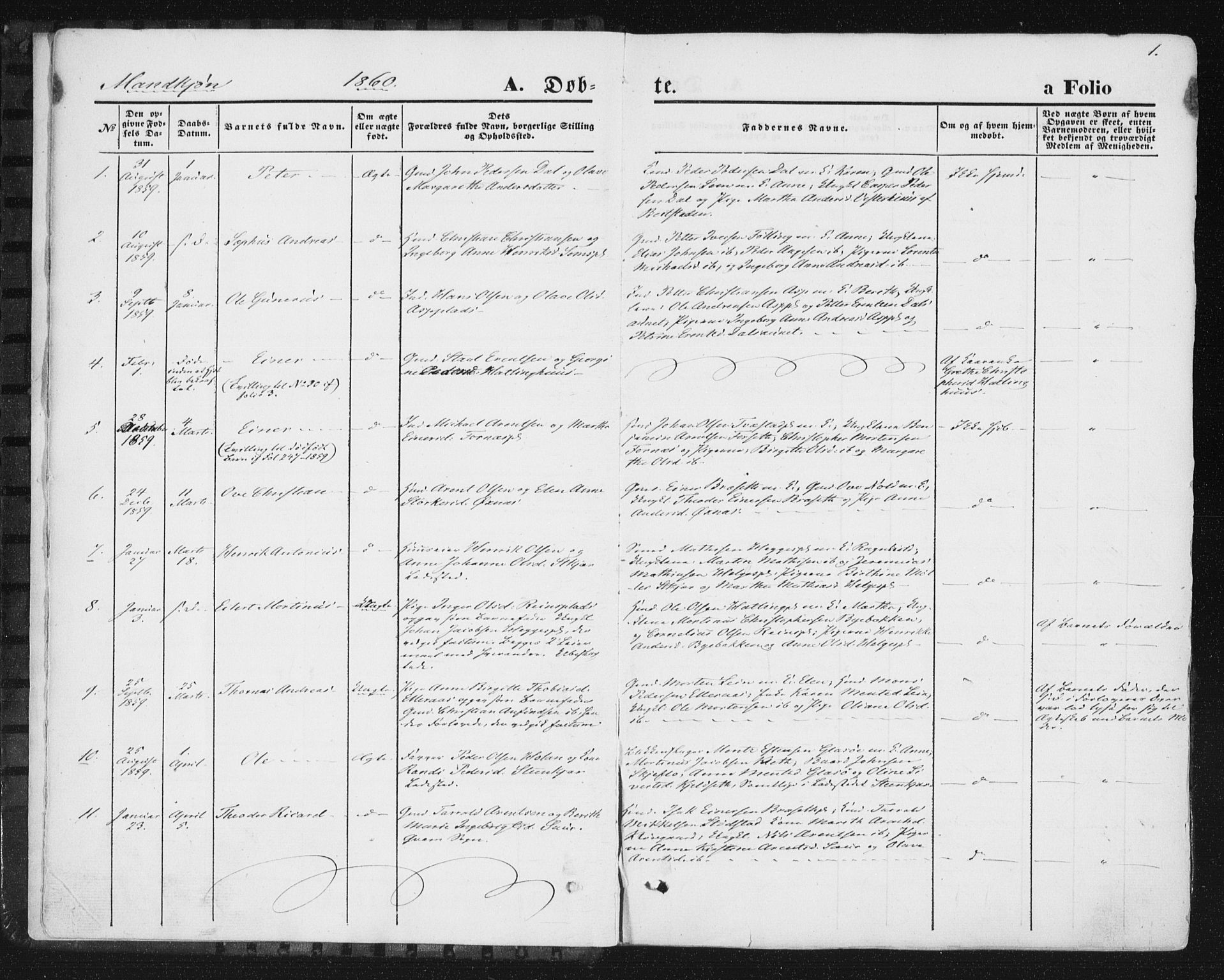 SAT, Ministerialprotokoller, klokkerbøker og fødselsregistre - Nord-Trøndelag, 746/L0447: Ministerialbok nr. 746A06, 1860-1877, s. 1