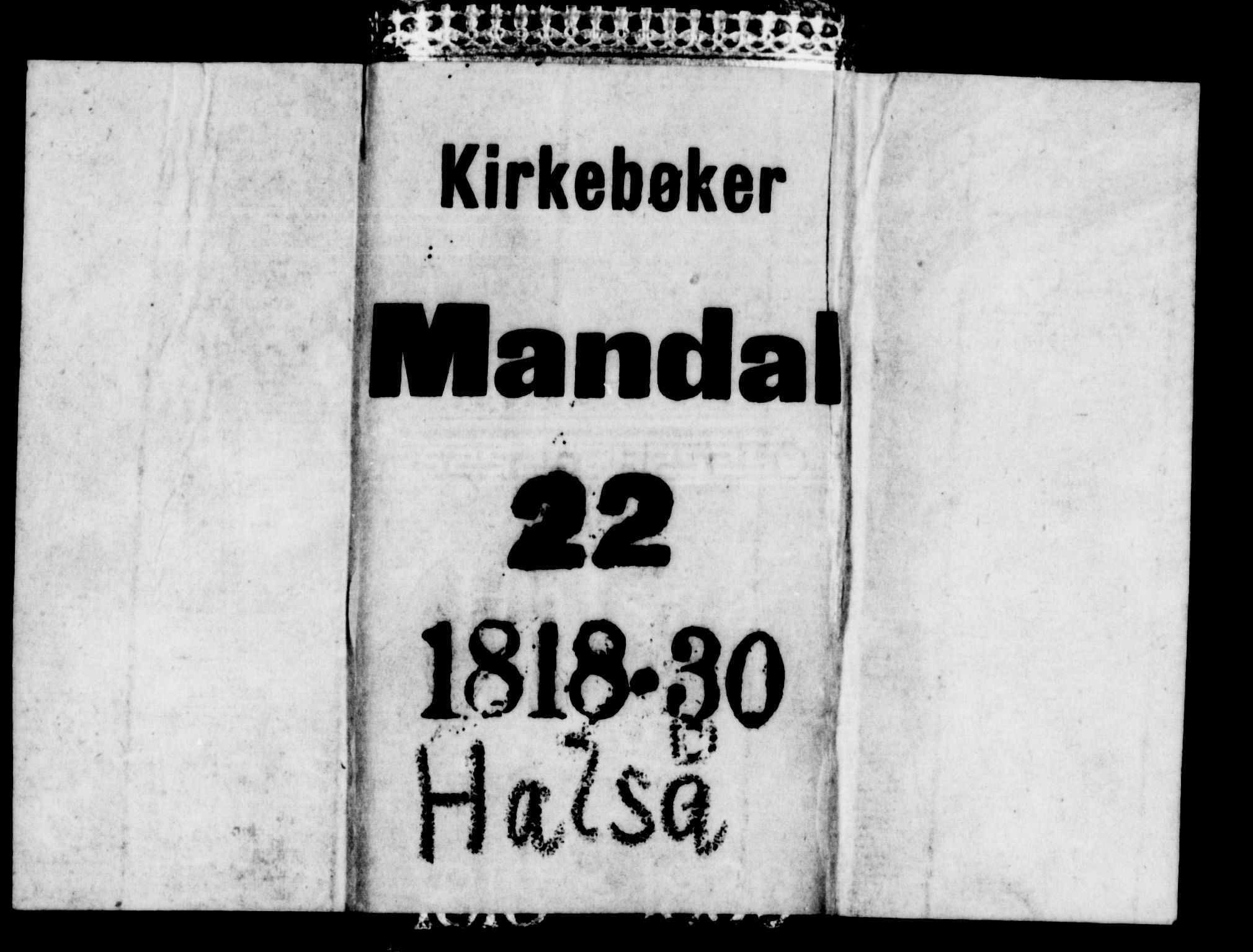 SAK, Mandal sokneprestkontor, F/Fb/Fba/L0001: Klokkerbok nr. B 1, 1818-1830