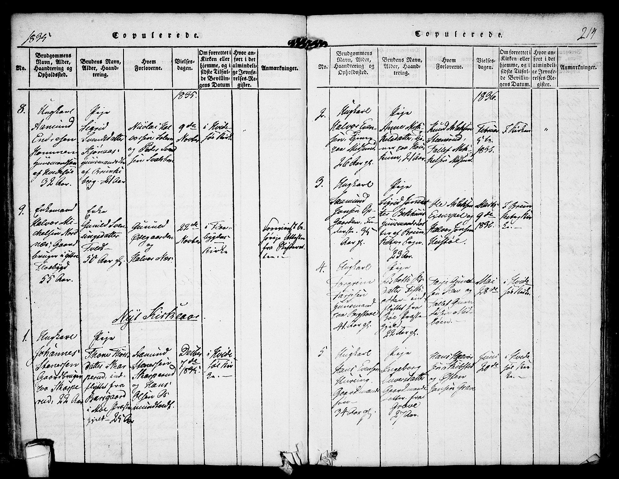SAKO, Kviteseid kirkebøker, F/Fa/L0005: Ministerialbok nr. I 5, 1815-1836, s. 214