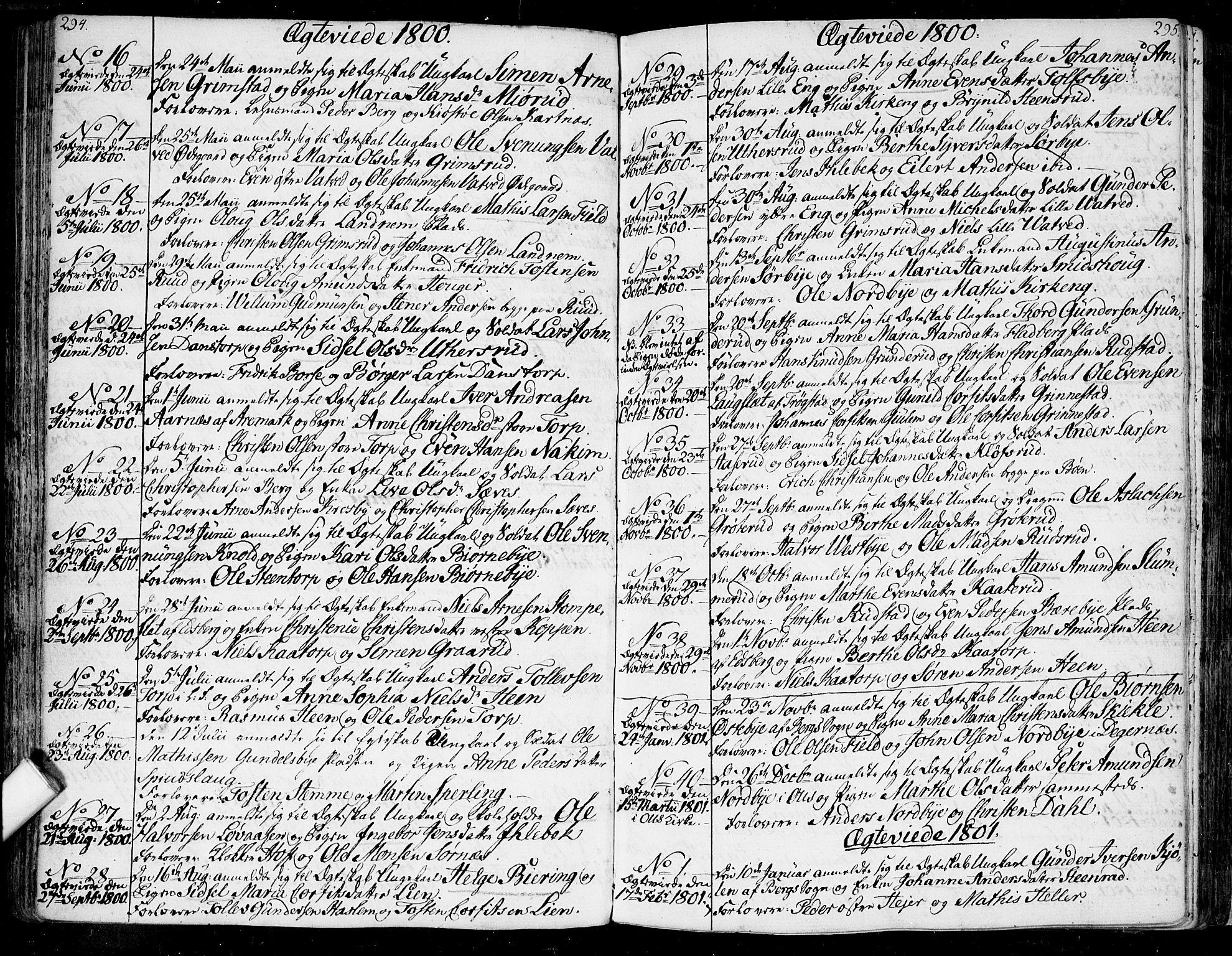 SAO, Rakkestad prestekontor Kirkebøker, F/Fa/L0005: Ministerialbok nr. I 5, 1784-1814, s. 294-295
