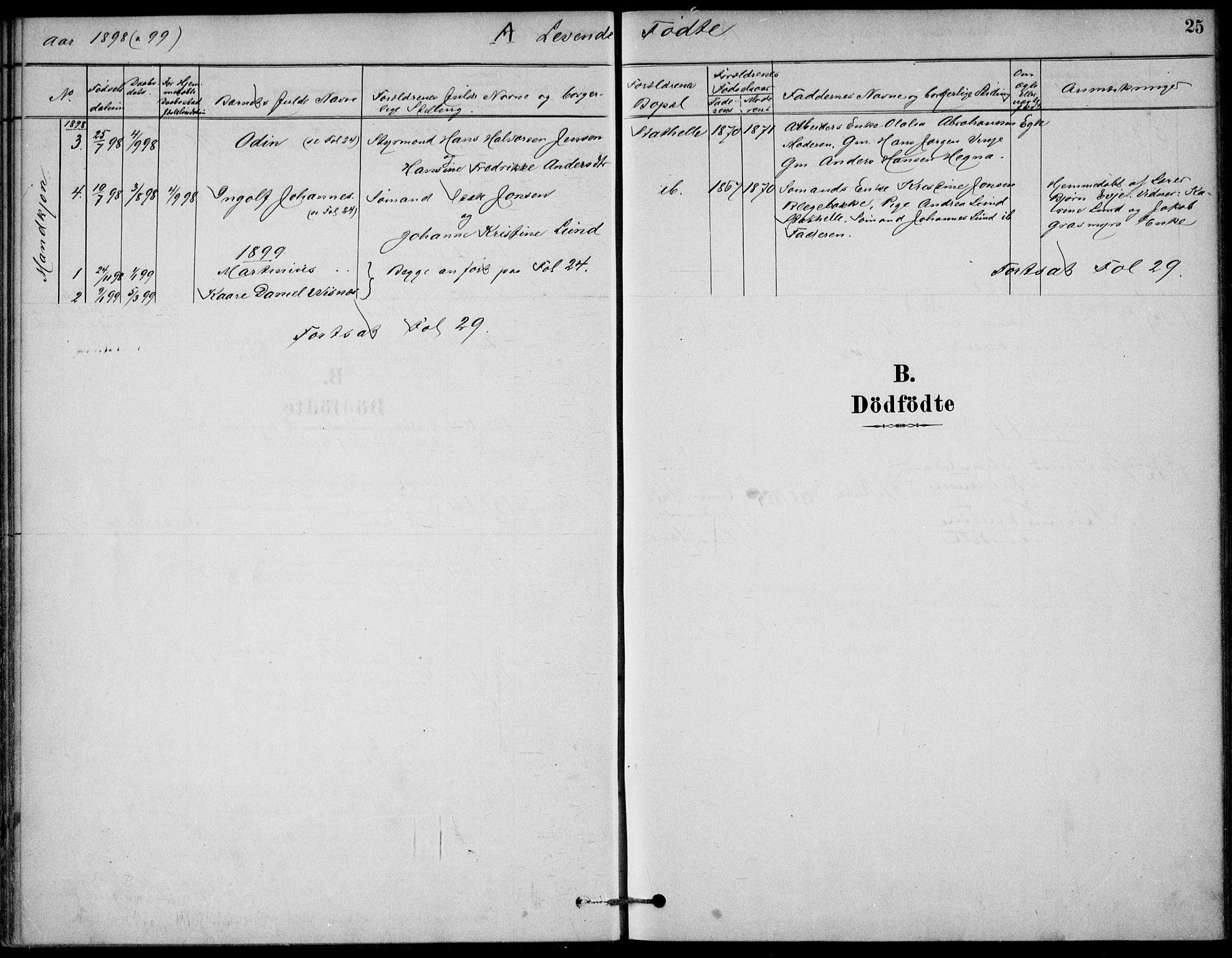 SAKO, Bamble kirkebøker, G/Gb/L0001: Klokkerbok nr. II 1, 1878-1900, s. 25