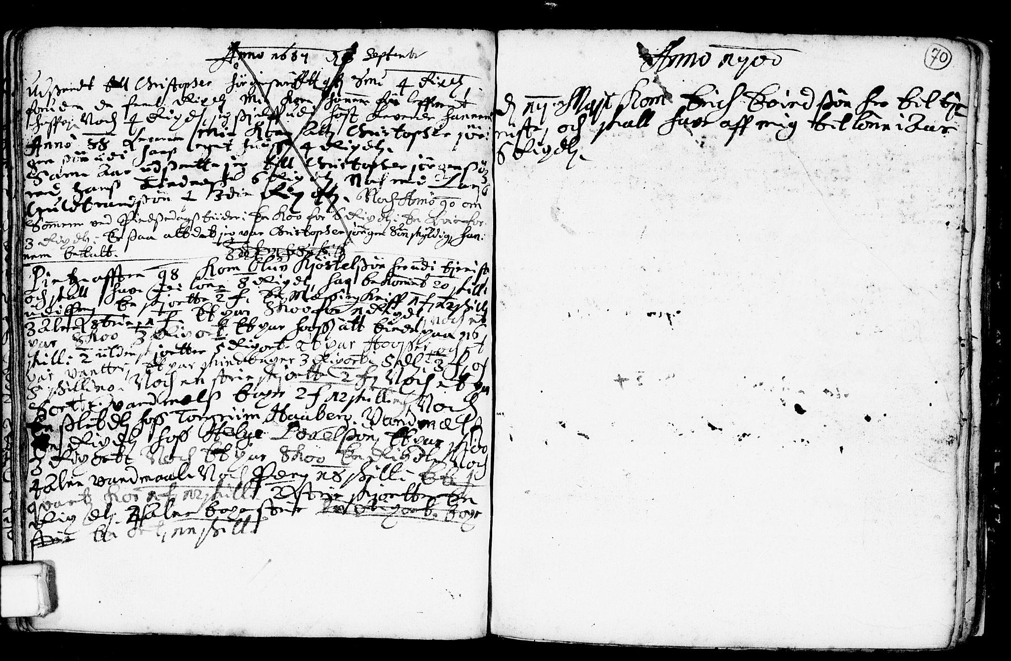 SAKO, Heddal kirkebøker, F/Fa/L0001: Ministerialbok nr. I 1, 1648-1699, s. 70