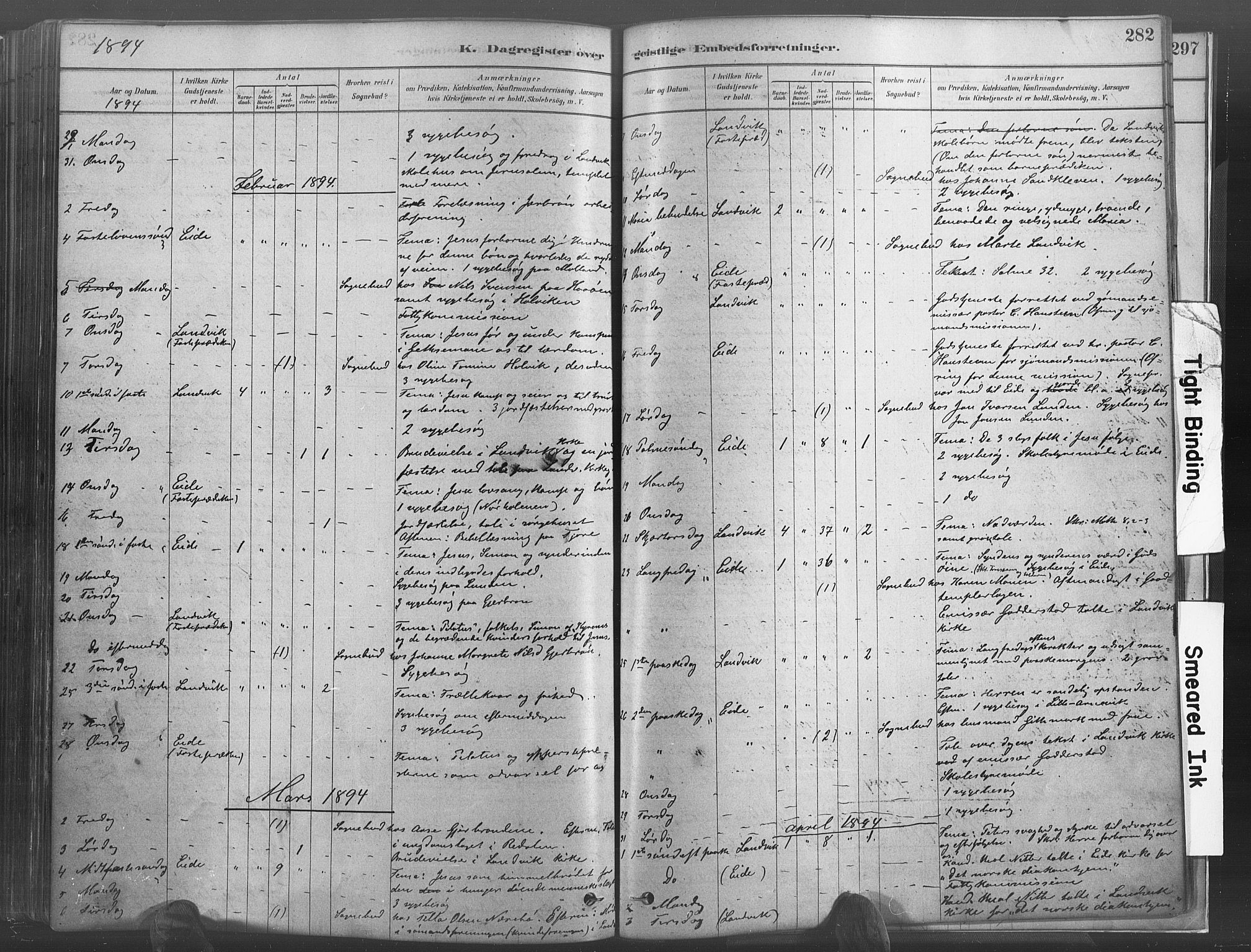 SAK, Hommedal sokneprestkontor, F/Fa/Fab/L0006: Ministerialbok nr. A 6, 1878-1897, s. 282