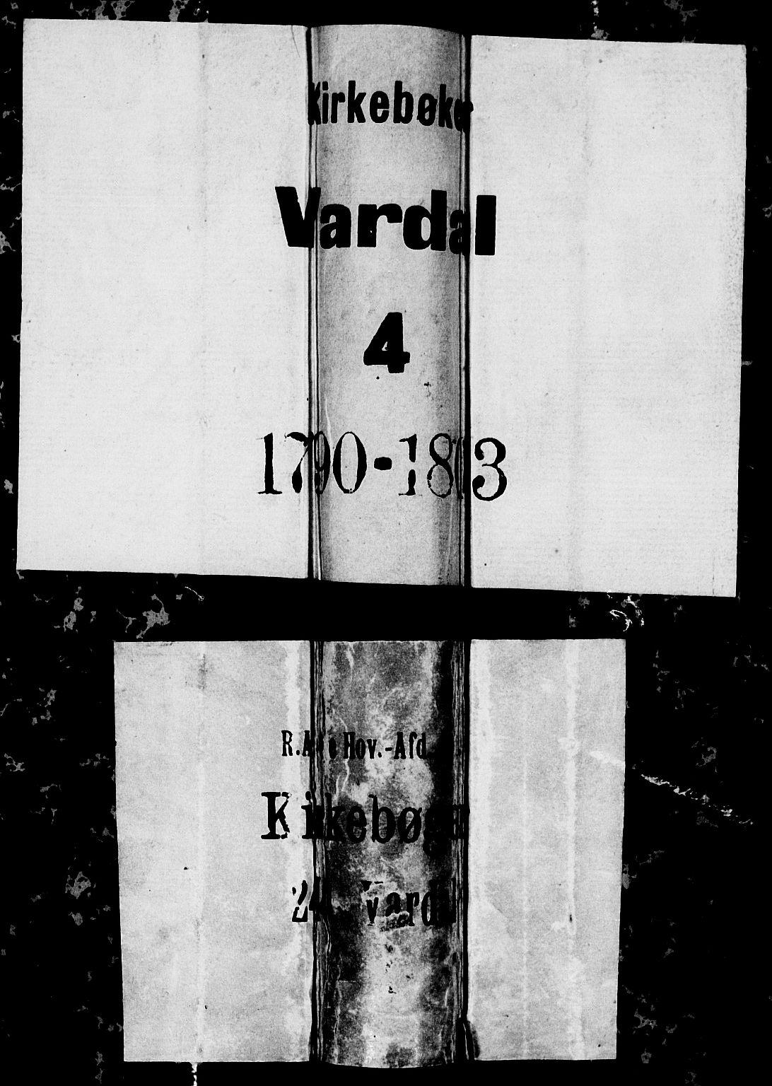 SAH, Vardal prestekontor, H/Ha/Hab/L0002: Klokkerbok nr. 2, 1790-1803