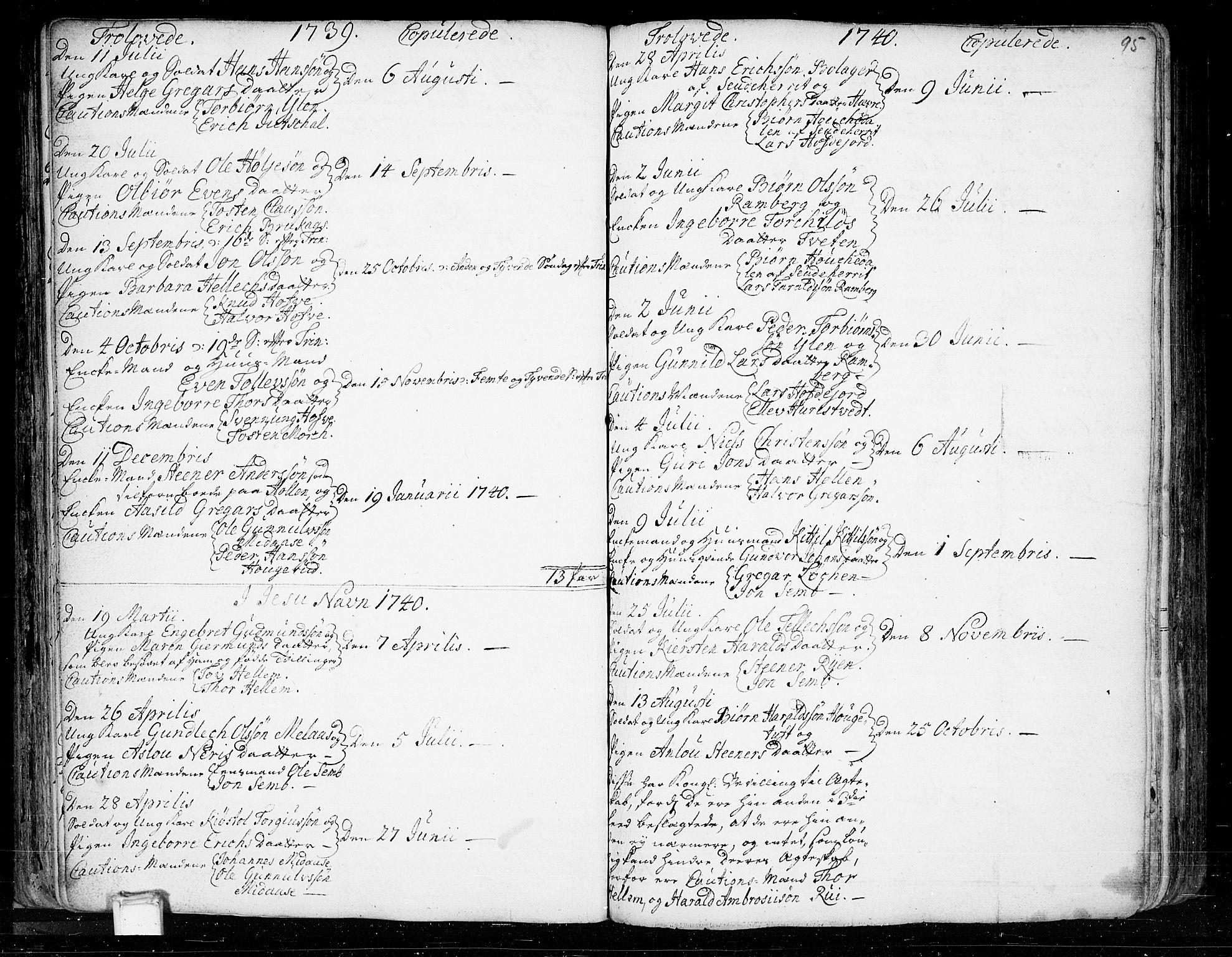 SAKO, Heddal kirkebøker, F/Fa/L0003: Ministerialbok nr. I 3, 1723-1783, s. 95